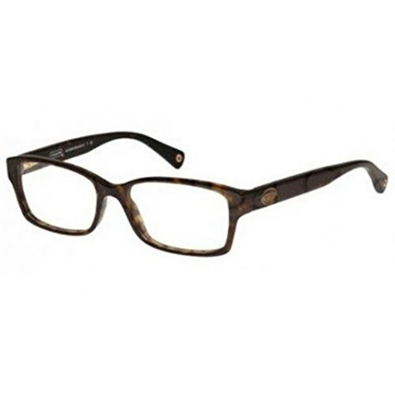 4fcb67e80a6 Shop Coach Women s HC6040 5001 52 Rectangle Plastic Havana Clear Eyeglasses  - Free Shipping Today - Overstock.com - 14778772