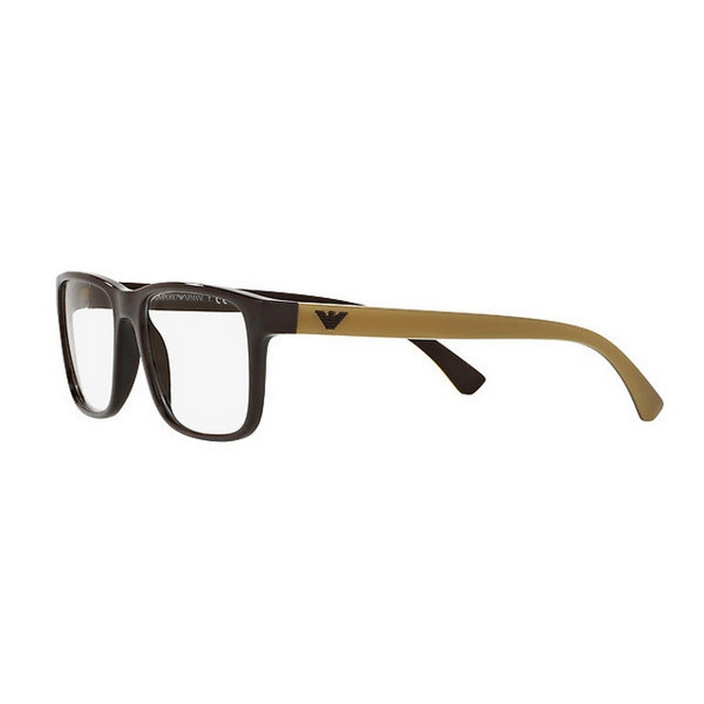 f84bcdfe928 Shop Emporio Armani Men s EA3103 5562 55 Rectangle Plastic Brown Clear  Eyeglasses - Free Shipping Today - Overstock - 14778929