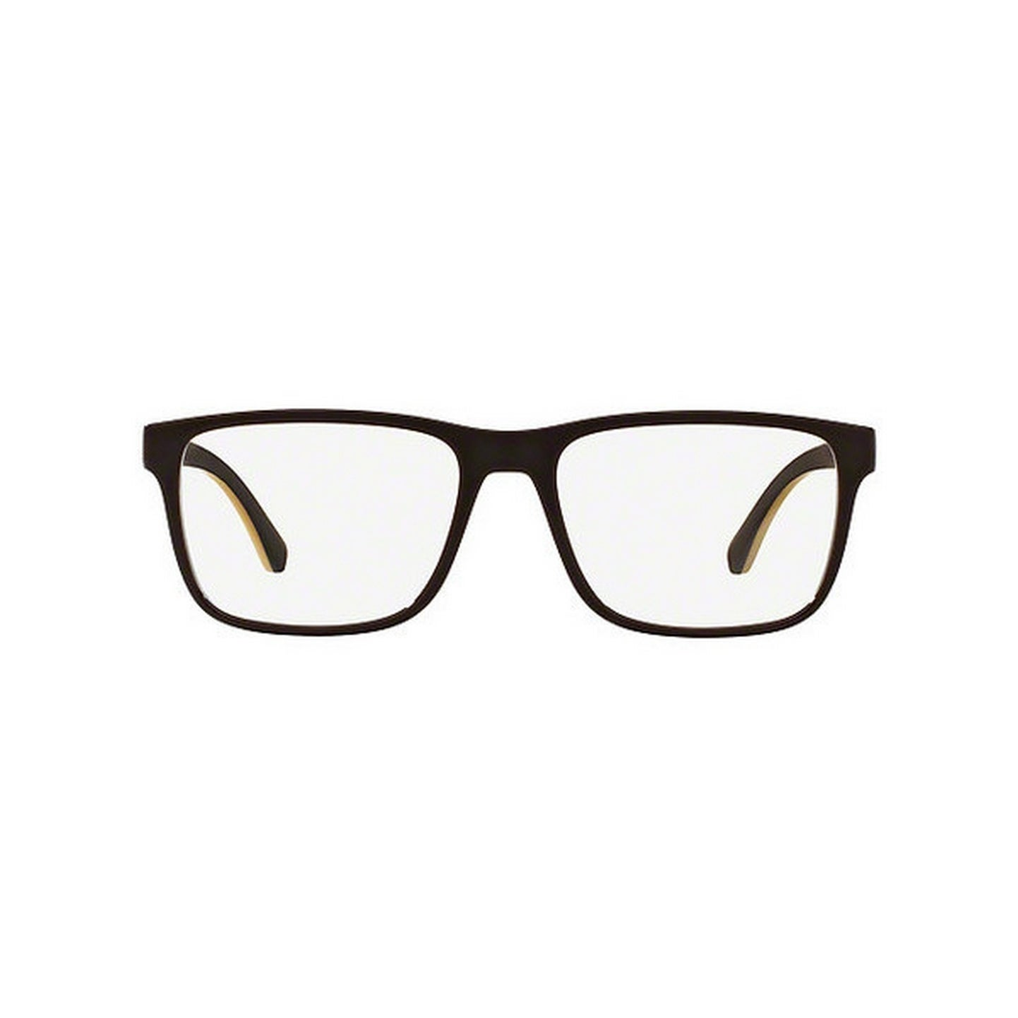 5d5c2d9285c Shop Emporio Armani Men s EA3103 5562 53 Rectangle Plastic Brown Clear  Eyeglasses - Free Shipping Today - Overstock.com - 14778931