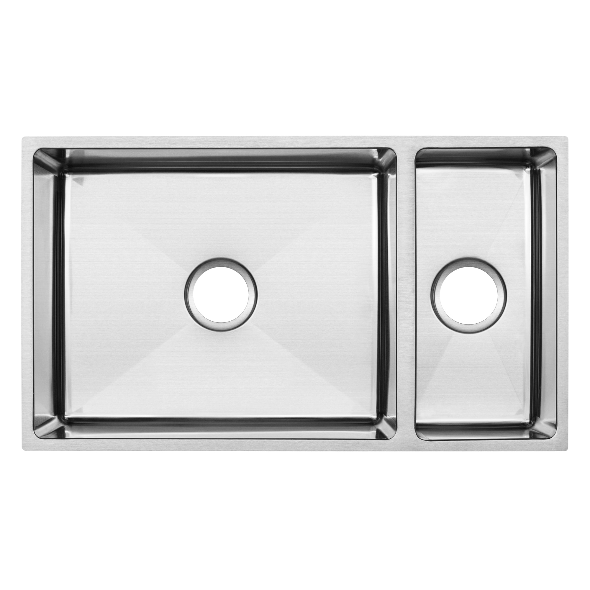 Shop ticor stainless steel undermount 31 1 4 inch 70 30 double bowl kitchen sink with tight radius corners free shipping today overstock 14779107