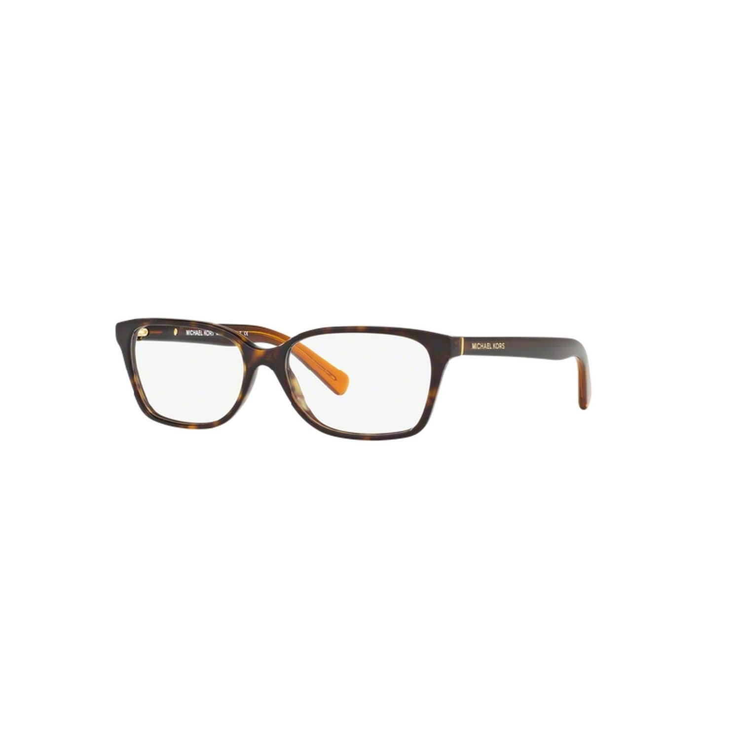bc2d989c44e Shop Michael Kors Women s MK4039 3217 54 Rectangle Plastic Havana Clear  Eyeglasses - Free Shipping Today - Overstock.com - 14779522