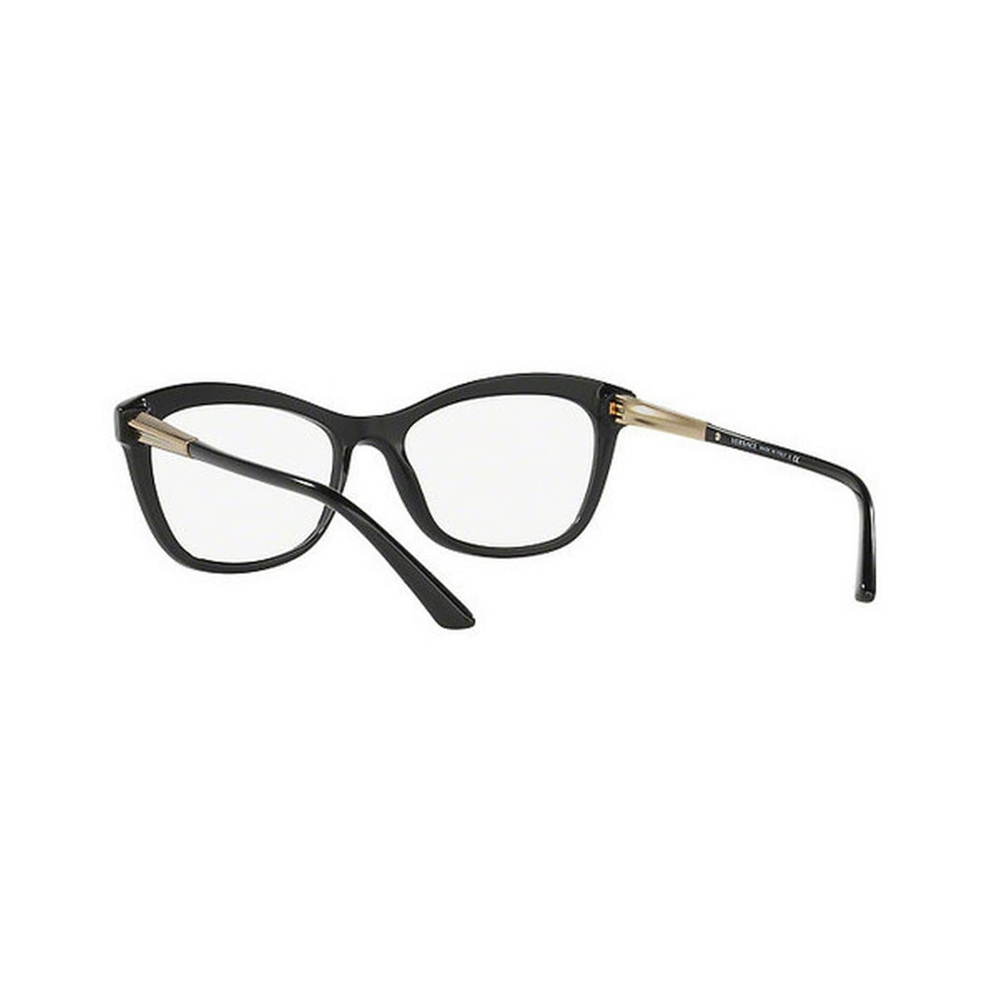 a38995f0486 Shop Versace Women s VE3224 GB1 54 Cateye Plastic Black Clear Eyeglasses -  Free Shipping Today - Overstock - 14779865