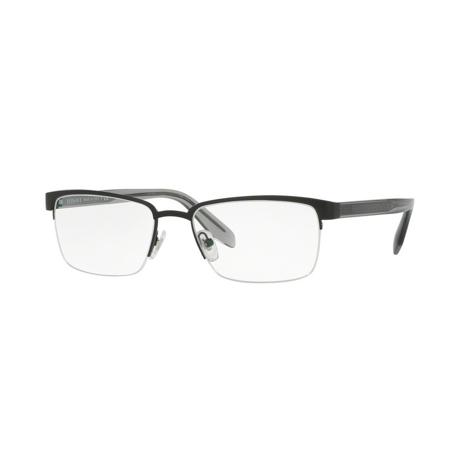 afc42315005e2 Shop Versace Men s VE1241 1261 54 Rectangle Metal Plastic Black Clear  Eyeglasses - Free Shipping Today - Overstock - 14779978