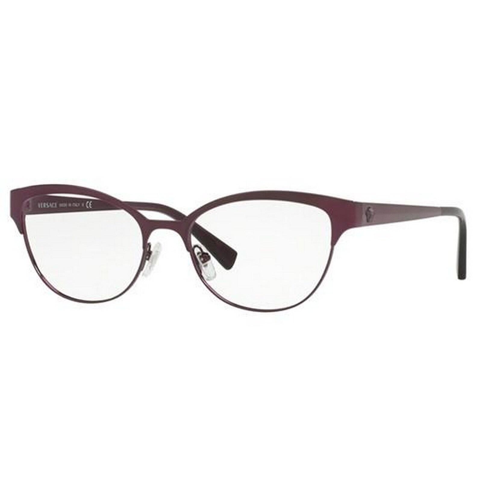 34966441f666 Versace Women s VE1240 1397 53 Oval Metal Purple Clear Eyeglasses