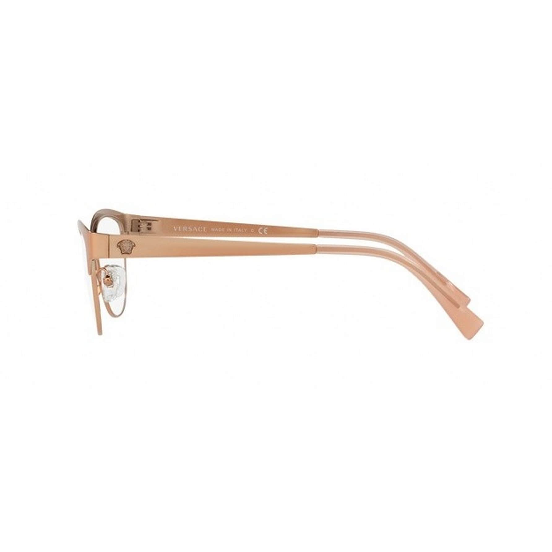 2385f11dba9 Shop Versace Women s VE1240 1396 53 Oval Metal Brown Clear Eyeglasses -  Free Shipping Today - Overstock.com - 14779989