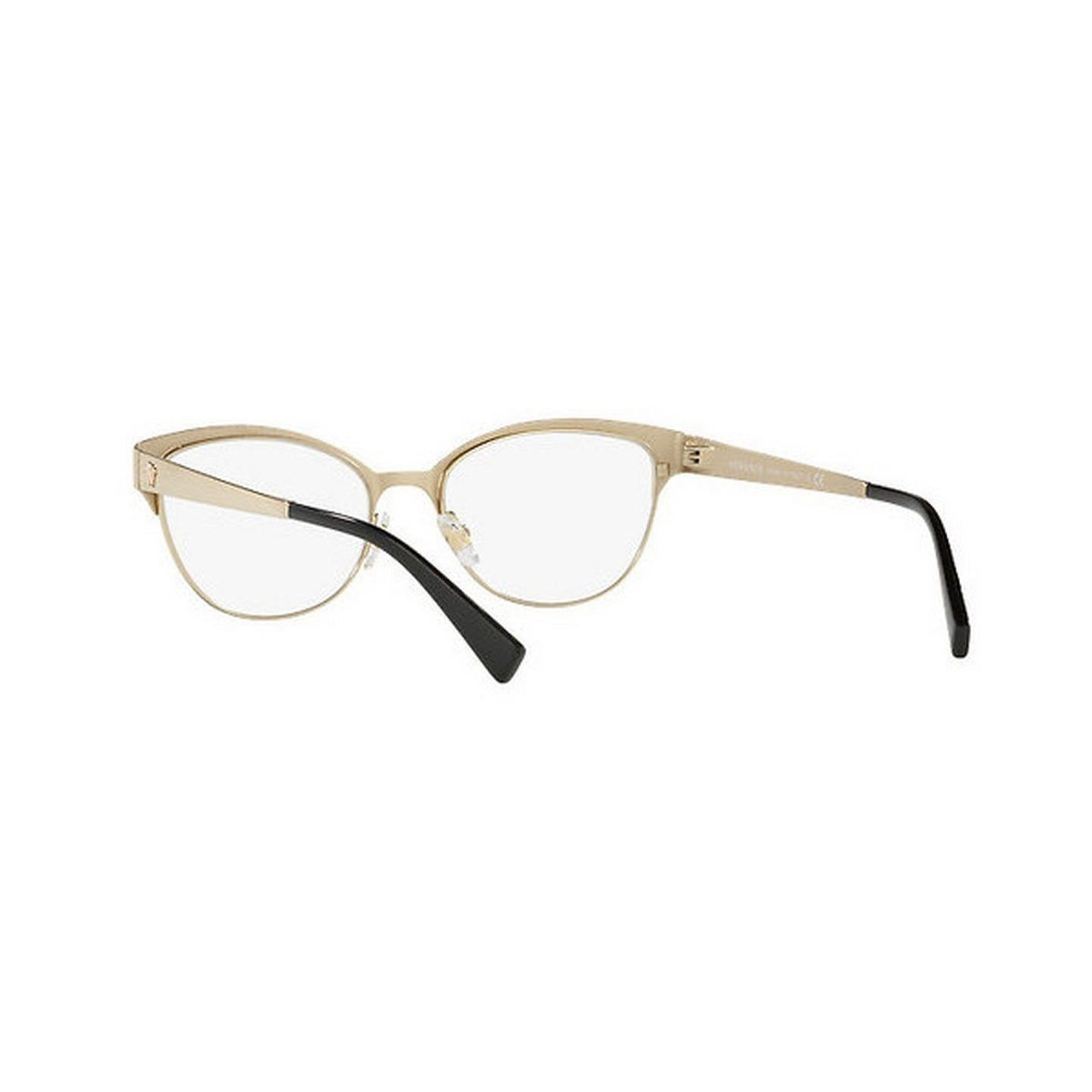 6bfd26025d2 Shop Versace Women s VE1240 1252 53 Oval Metal Gold Clear Eyeglasses - Free  Shipping Today - Overstock - 14779992