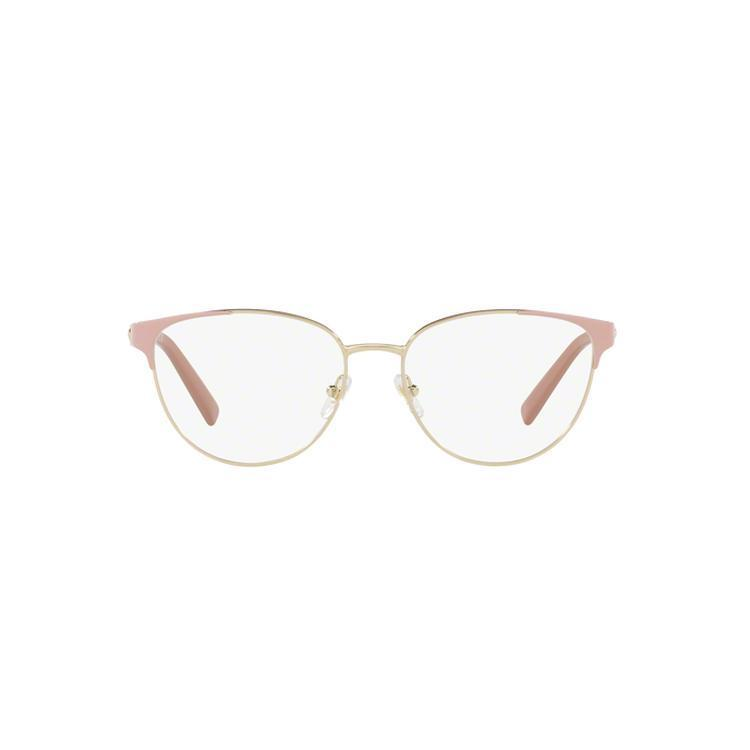 a2a600b398 Versace Women s VE1238 1386 54 Round Metal Brown Clear Eyeglasses