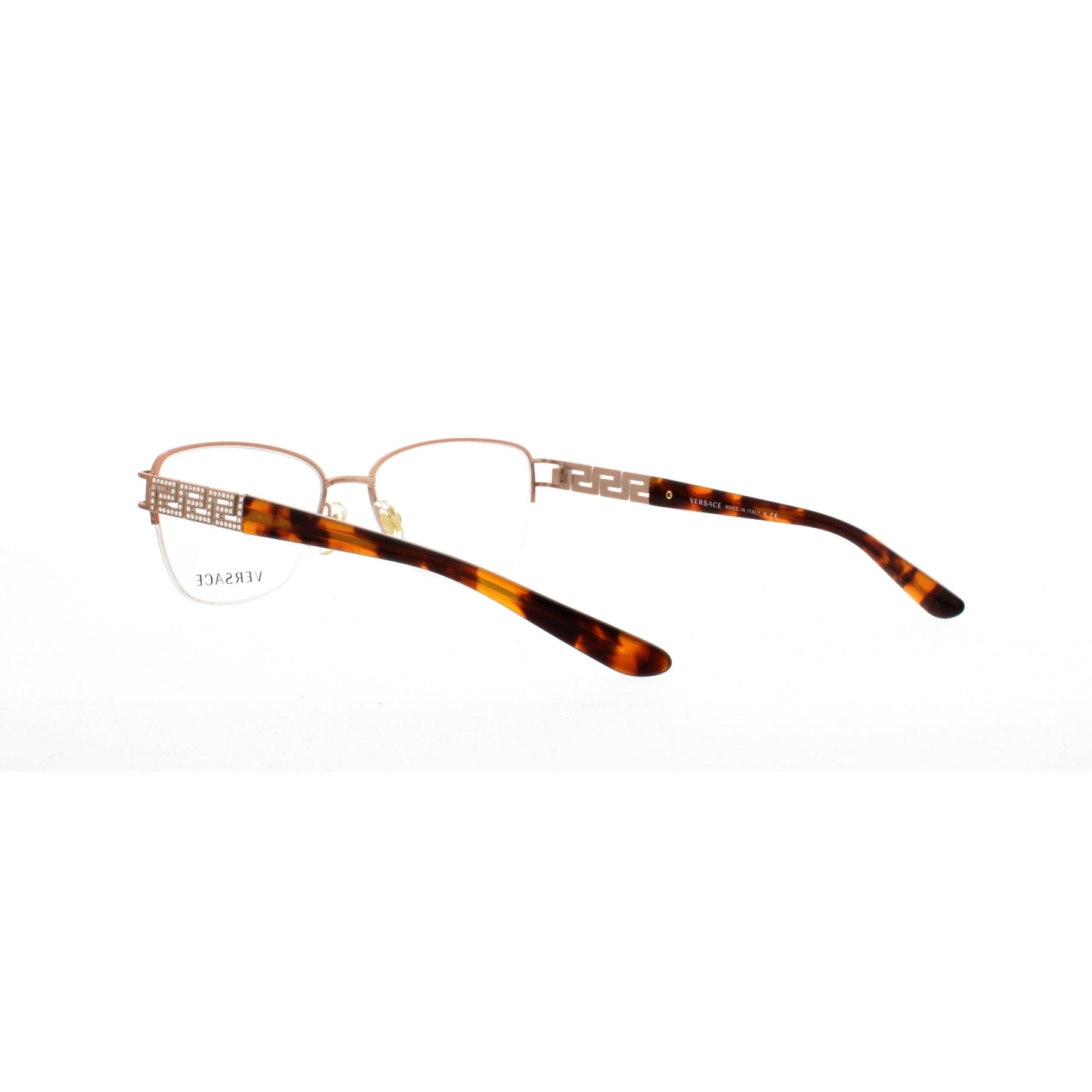 763e447f355d Shop Versace Women s VE1220B 1052 52 Cateye Metal Plastic Brown Clear  Eyeglasses - Free Shipping Today - Overstock - 14780056