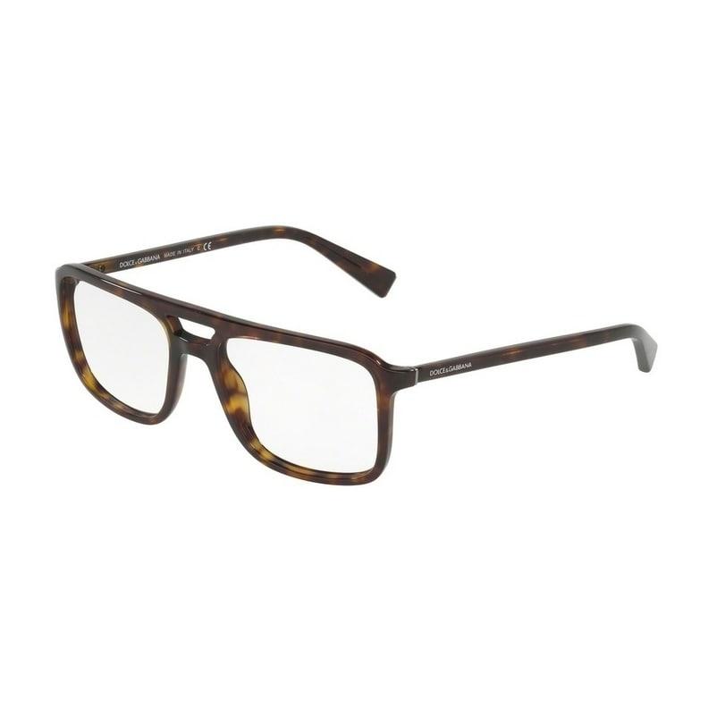 97c56777c5a0 Shop Dolce   Gabbana Men s DG3267 502 54 Rectangle Plastic Havana Clear  Eyeglasses - Free Shipping Today - Overstock.com - 14780331