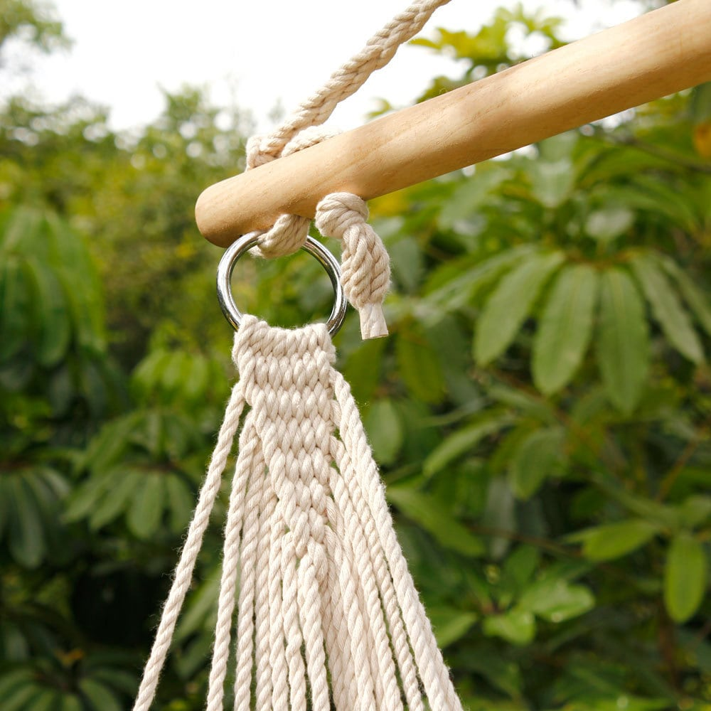 Shop Beige Cotton Rope Hanging Air/ Sky Chair Swing   Free Shipping On  Orders Over $45   Overstock.com   14780982