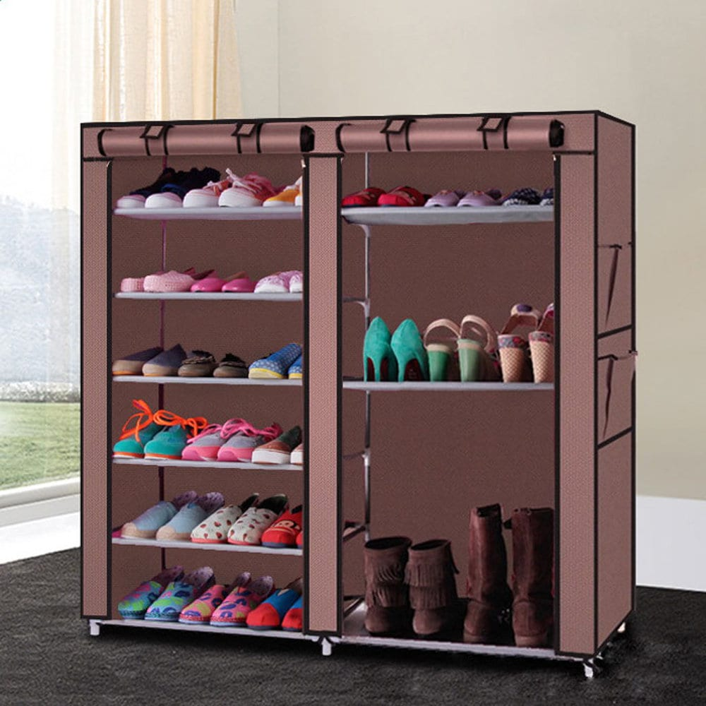 Double-row 9-lattice Combination Style Shoe Cabinet - Free Shipping On  Orders Over $45 - Overstock.com - 21303062