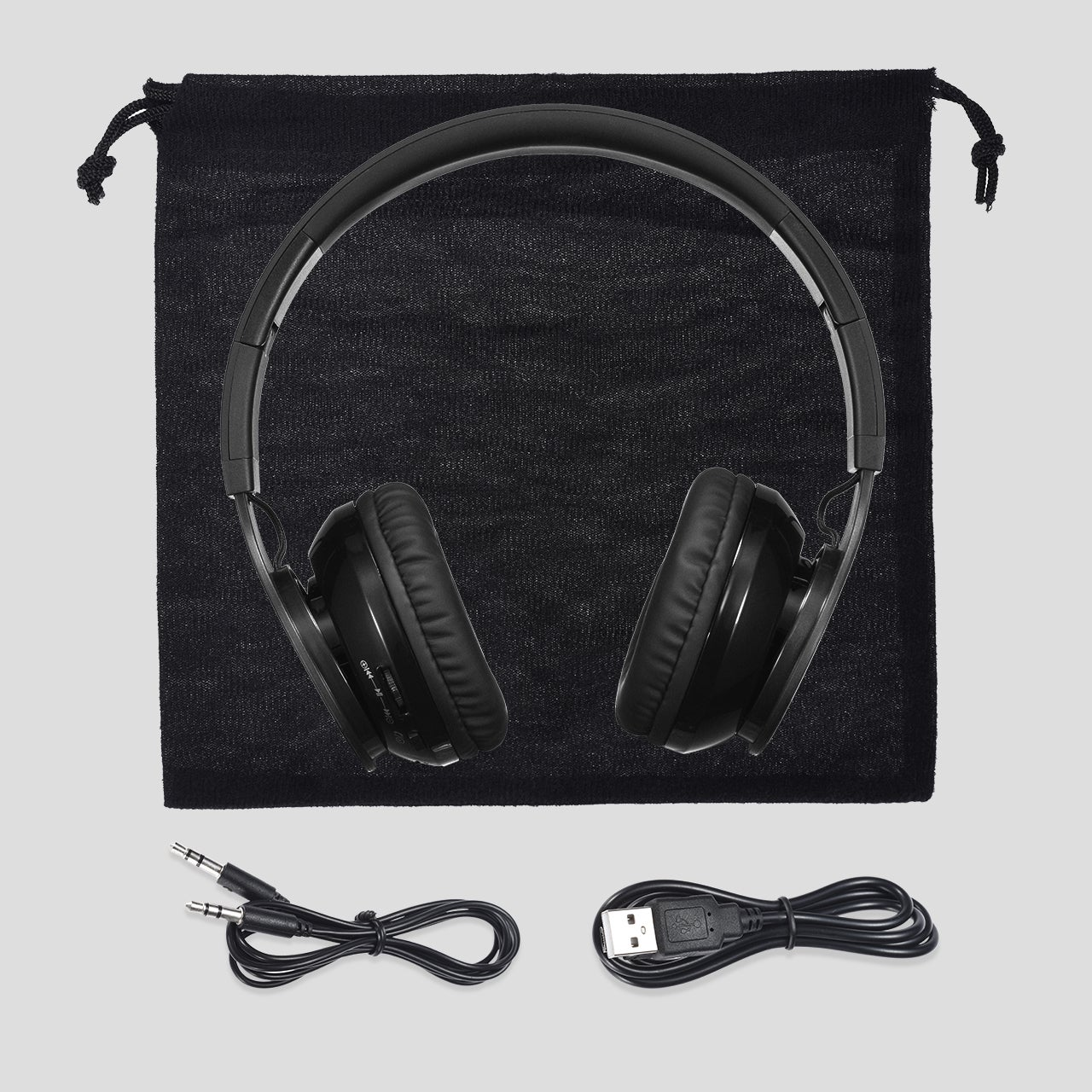 Shop Bluetooth Wireless Headset with Mic and Wired Mode, Foldable ...