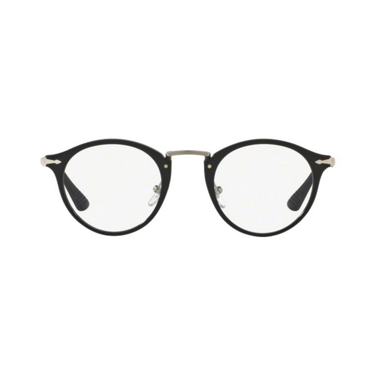 Shop Persol Men s PO3167V 95 49 Round Metal Plastic Black Clear Eyeglasses  - Free Shipping Today - Overstock.com - 14785526 7e4017e8fb4b
