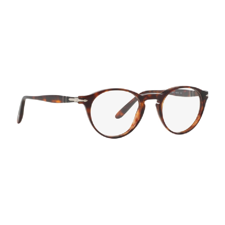 0a21a4baa64 Persol Men s PO3092V 9015 48 Round Plastic Havana Clear Eyeglasses