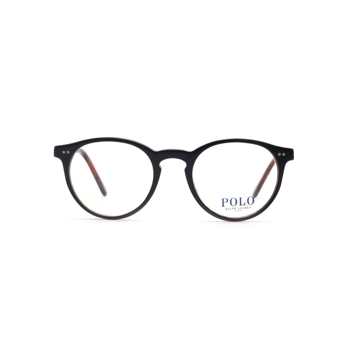 35edc85cfad Shop Polo by Ralph by Ralph Lauren Lauren Men s PH2083 5260 48 Round  Plastic Black Clear Eyeglasses - Free Shipping Today - Overstock - 14786177