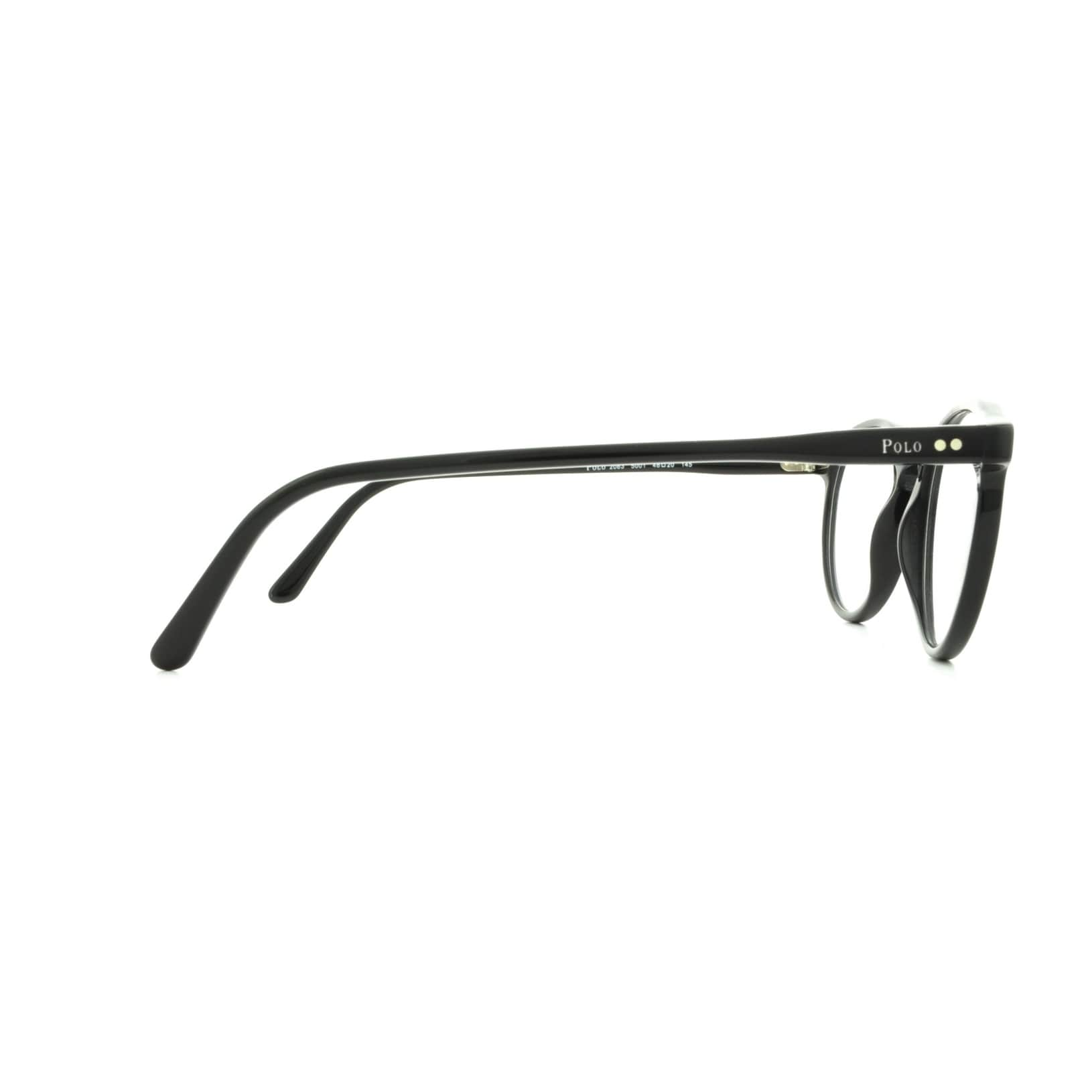 3034d95f7fc Shop Polo by Ralph by Ralph Lauren Lauren Men s PH2083 5001 46 Round  Plastic Black Clear Eyeglasses - Free Shipping Today - Overstock.com -  14786187