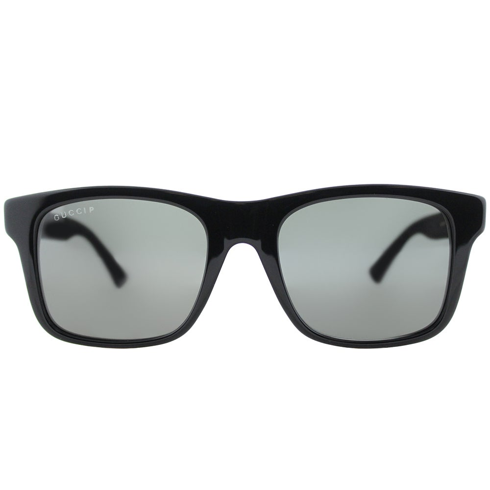 cc555422f9 Shop Gucci GG 0008S 002 Grey Black Plastic Square Polarized Lens Sunglasses  - Free Shipping Today - Overstock - 14787039