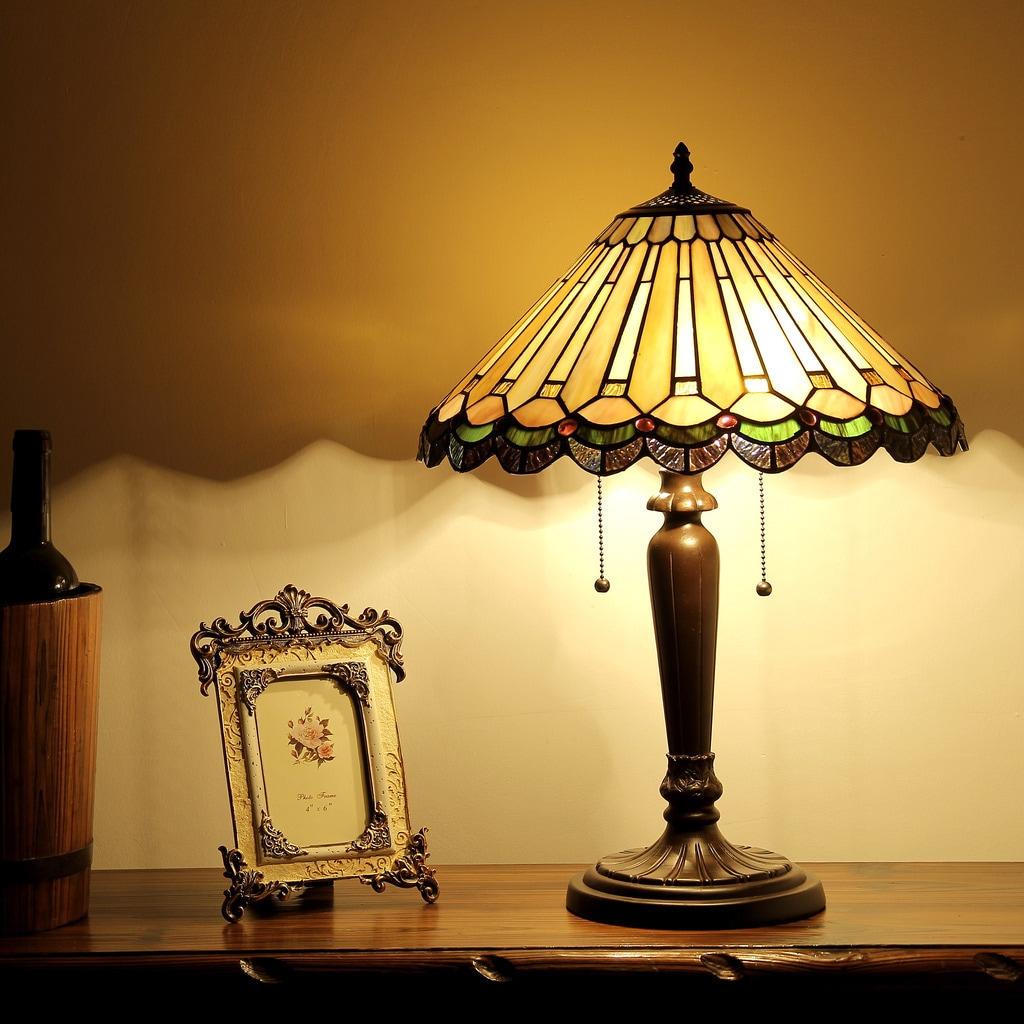 Shop Chloe Tiffany Style Victorian Design 2 Light Dark Bronze Table