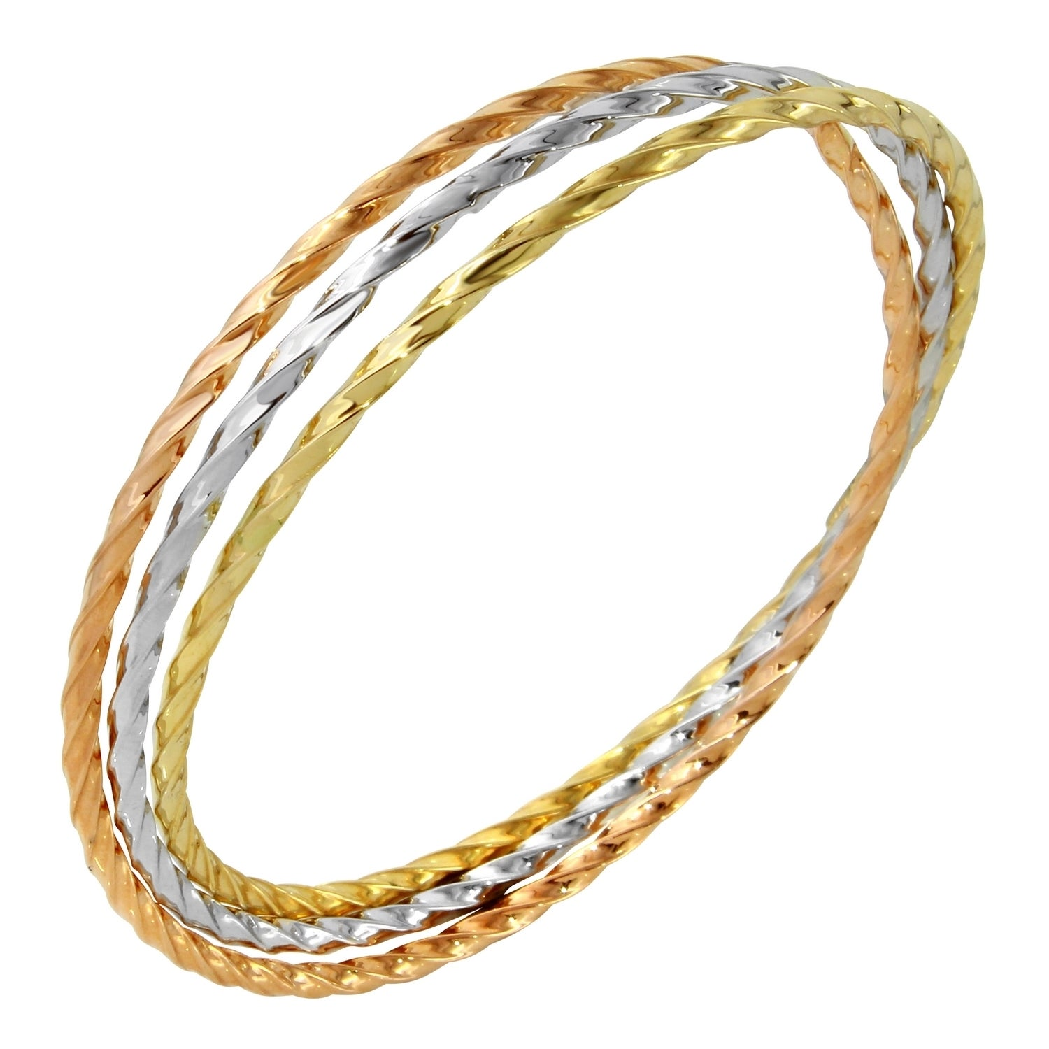 set tri tricolor women diamonds for ladies bracelets bangles k gold caymancode cts color