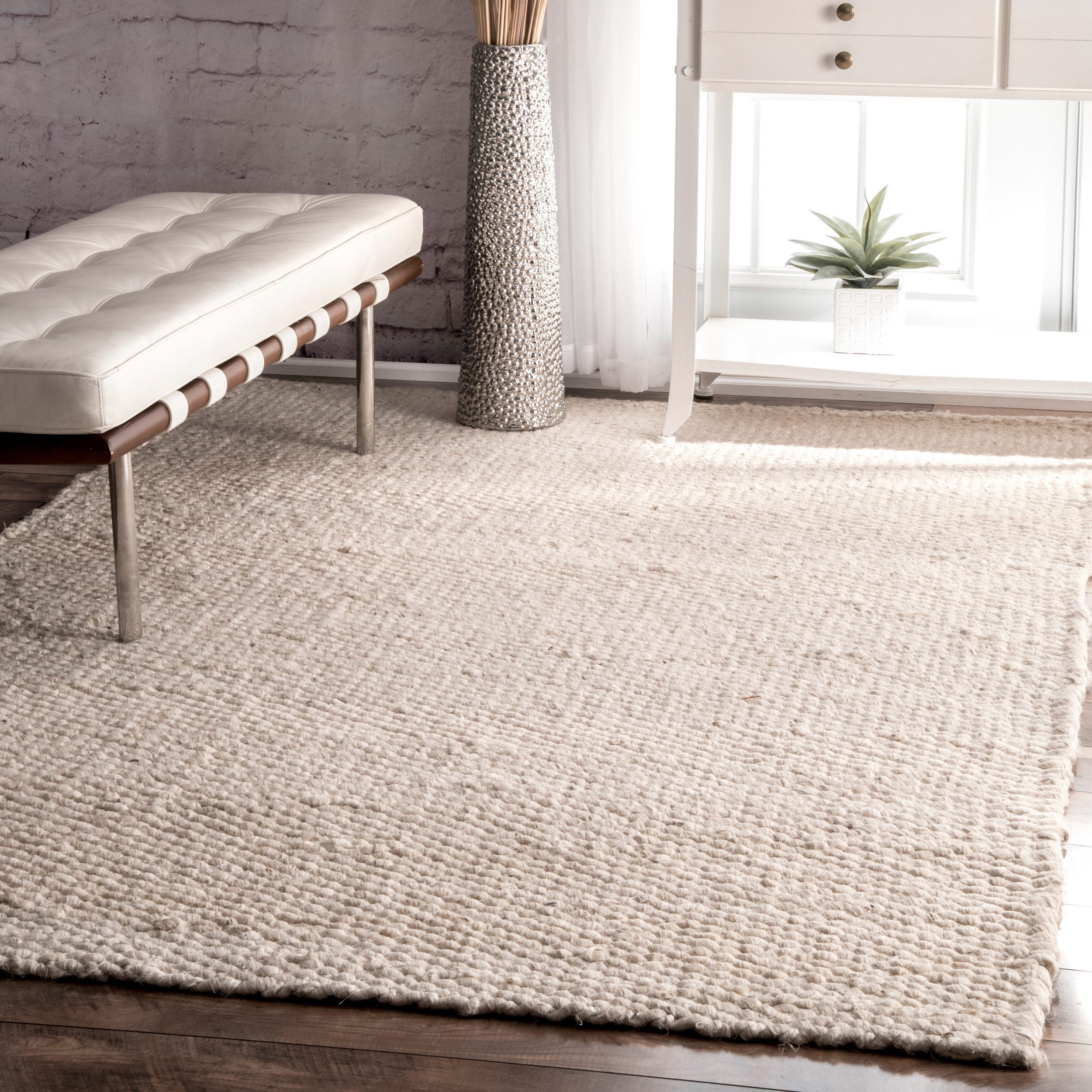 The Gray Barn Chief Mountain Handmade Bleached Jute Area Rug 9 X 12 Free Shipping Today Com 21310921