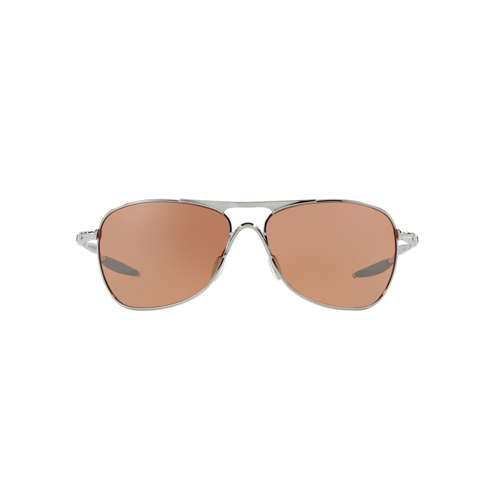 a990da5f0b Shop Oakley Crosshair Sunglasses Chrome  Black Iridium 61mm - Silver - Free  Shipping Today - Overstock - 14791140