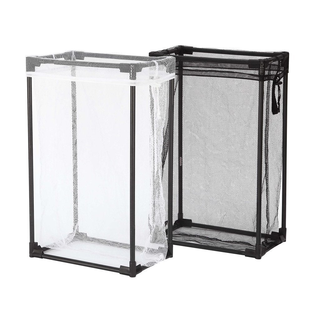Storagemaniac Portable Laundry Hamper With Removable Mesh Bag For Clothes 2 Pack Black And White Free Shipping On