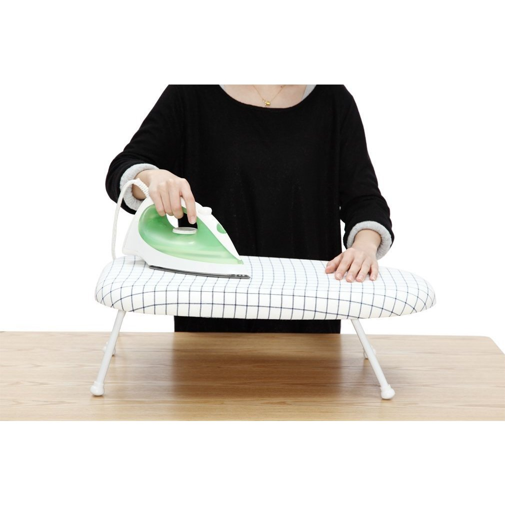 Shop StorageManiac Tabletop Ironing Board With Folding Legs, Folding Ironing  Board With Cotton Cover   White   Free Shipping On Orders Over $45 ...