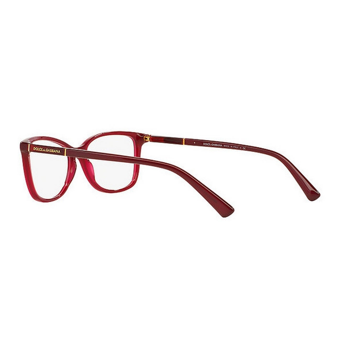 7d02b6eadf0 Shop Dolce   Gabbana Women s DG3219 2681 55 Square Plastic Red Clear  Eyeglasses - Free Shipping Today - Overstock - 14799374