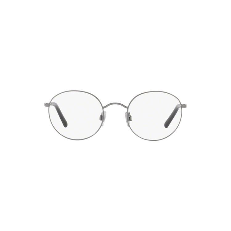 8721e1cb02 Dolce   Gabbana Men s DG1290 1305 50 Round Metal Black Clear Eyeglasses