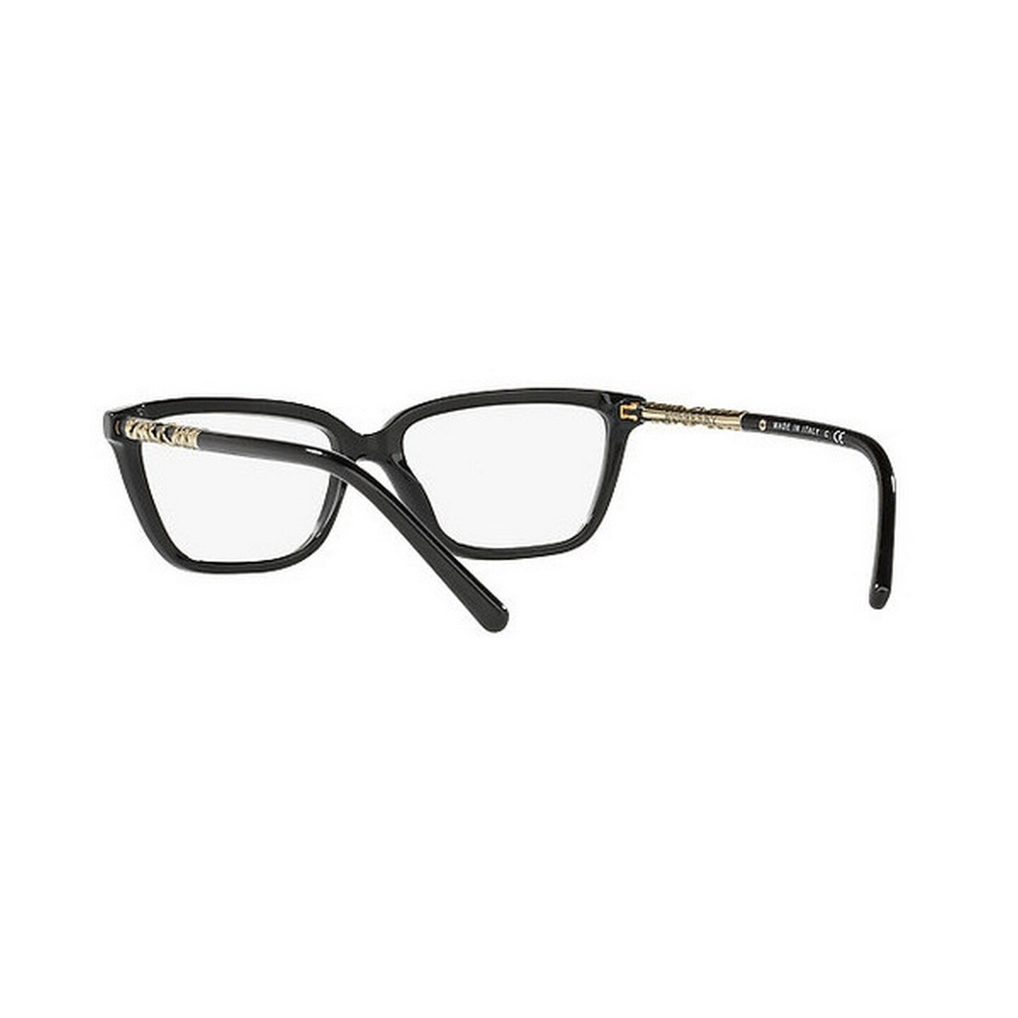 cf97bf70e2bc Shop Burberry Women s BE2246 3001 53 Rectangle Metal Plastic Black Clear  Eyeglasses - Free Shipping Today - Overstock.com - 14799521