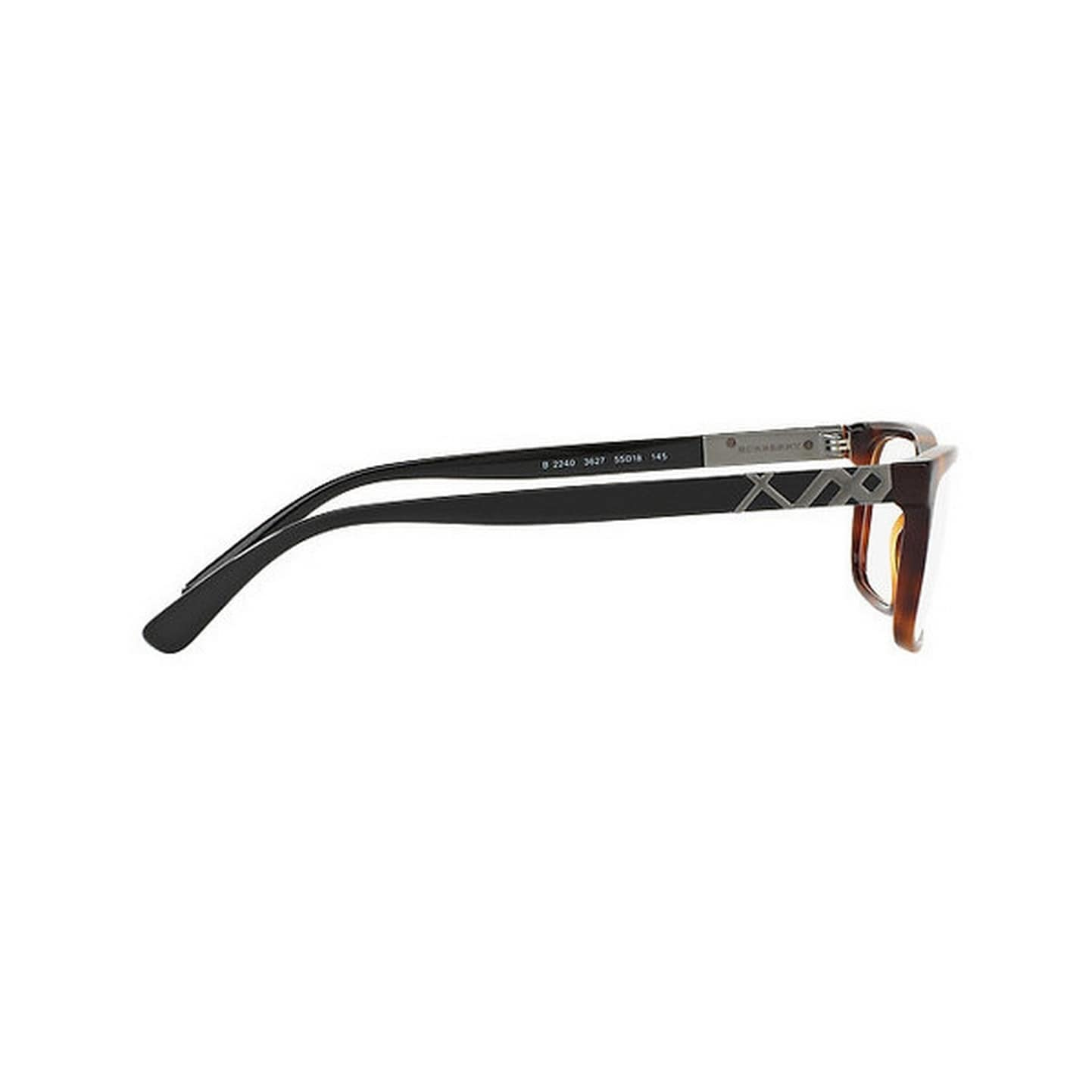 34876bfe0ad6 Shop Burberry Men's BE2240 3627 55 Rectangle Plastic Havana Clear Eyeglasses  - Ships To Canada - Overstock.ca - 14799608