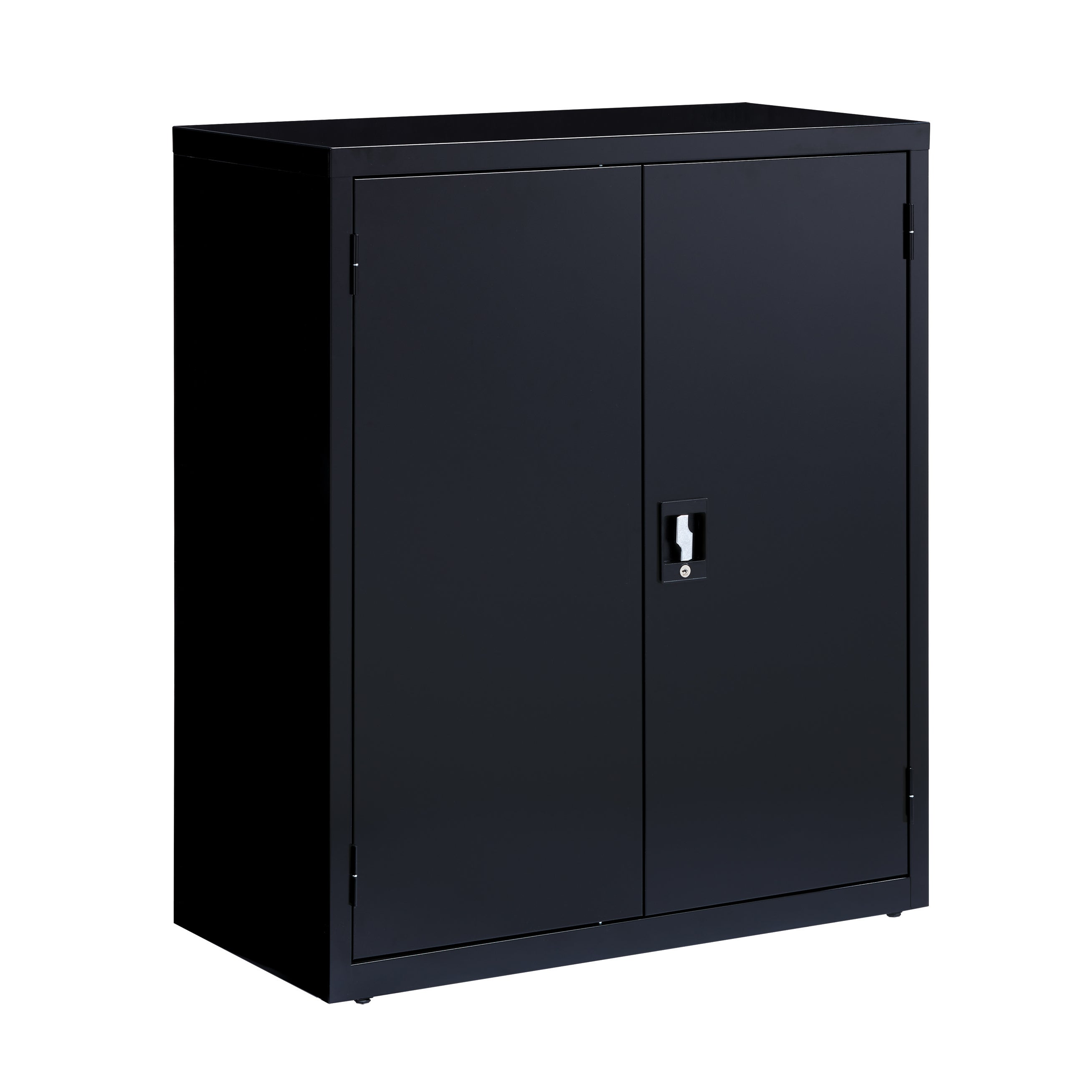 Shop Iron Horse Black Metal Durable 3 Shelf Storage Cabinet   Free Shipping  Today   Overstock.com   14799717