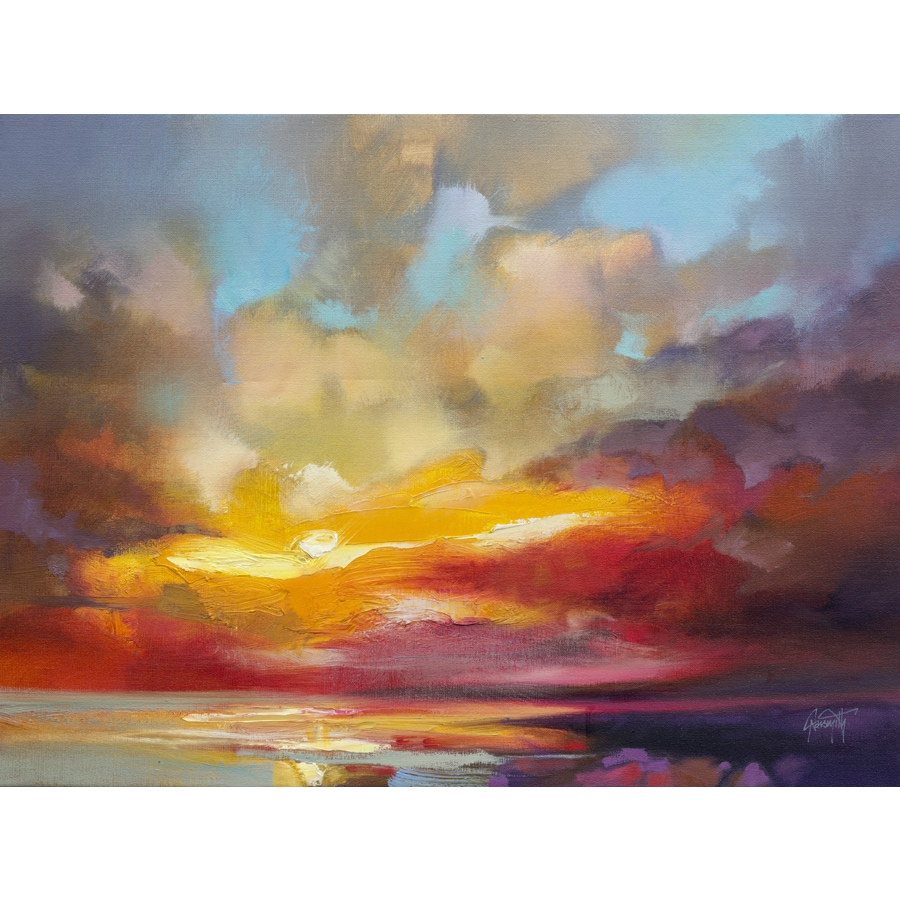 Scattered Rays\' by Scott Naismith Gel Brush Finished Gallery-Wrapped ...