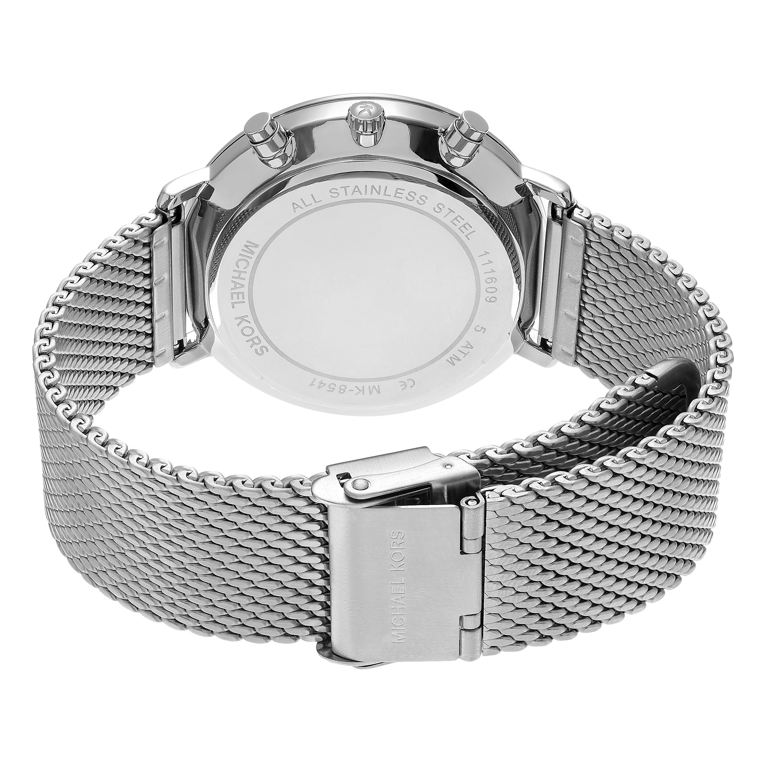 e777a086fcf6 Shop Michael Kors Men s MK8541  Jaryn  Stainless Steel Chronograph Dial Mesh  Link Bracelet Watch - Silver - Free Shipping Today - Overstock - 14803570