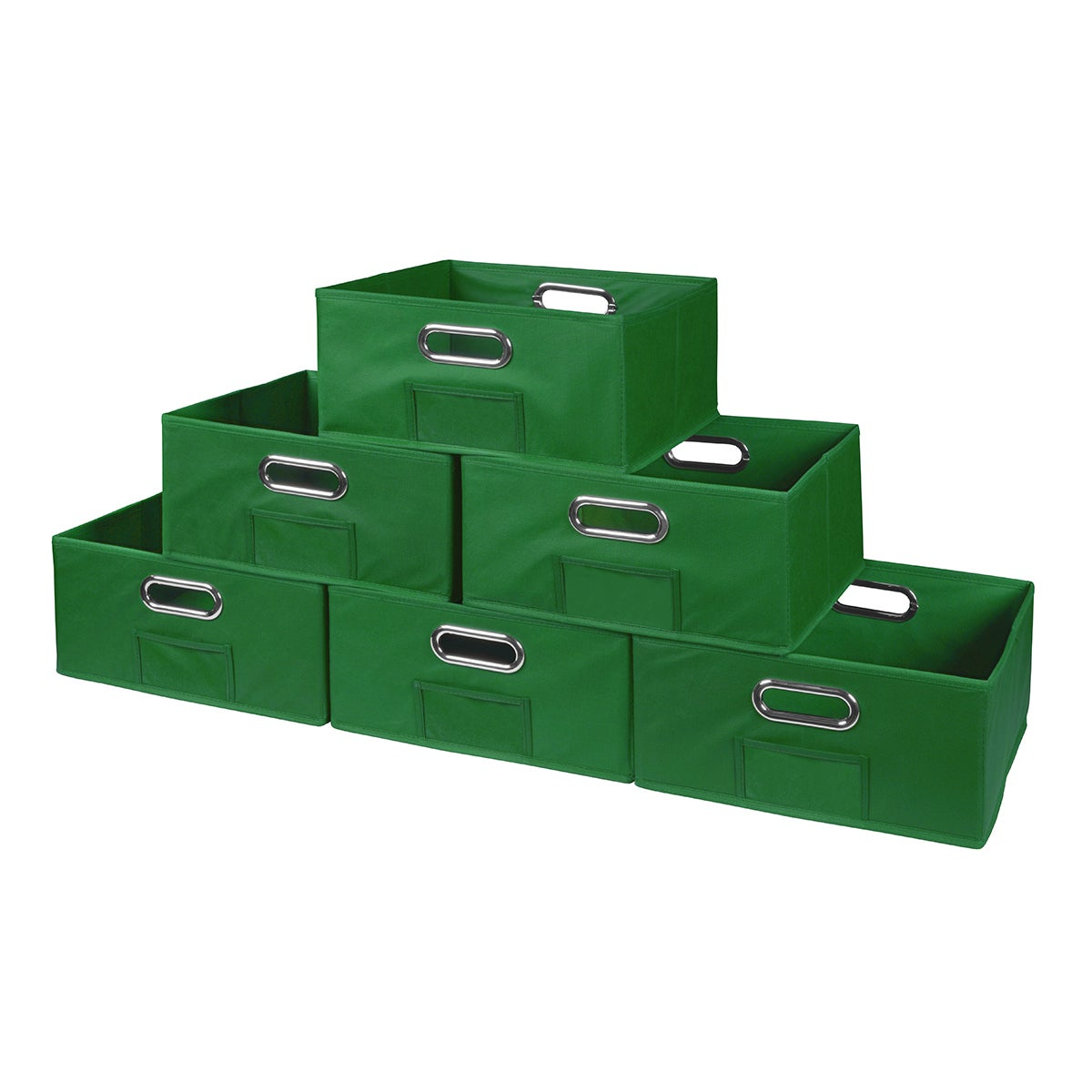 Shop Niche Cubo Half-Size Foldable Fabric Storage Bins- Set of 12 - Free Shipping On Orders Over $45 - Overstock.com - 14803639  sc 1 st  Overstock.com & Shop Niche Cubo Half-Size Foldable Fabric Storage Bins- Set of 12 ...