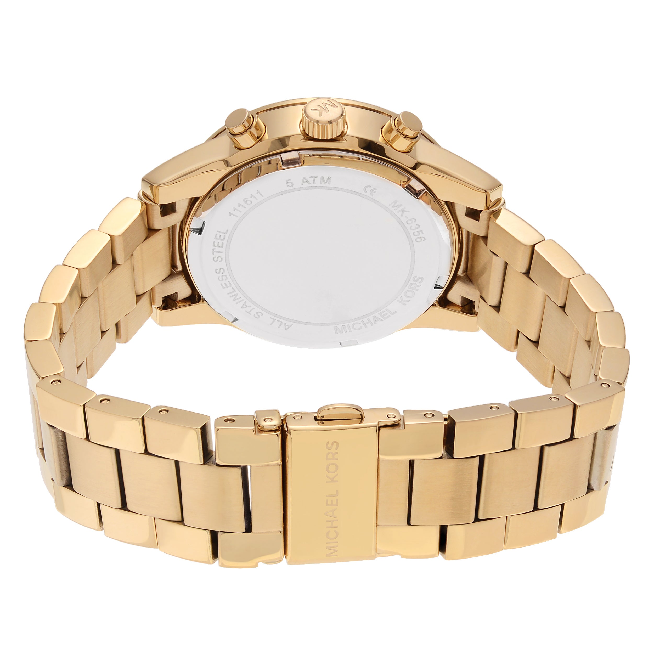 b5e13d6b0 Shop Michael Kors Women's MK6356 'Ritz' Goldtone Stainless Steel Crystal  Pave Chronograph Dial Link Bracelet Watch - Free Shipping Today - Overstock  - ...