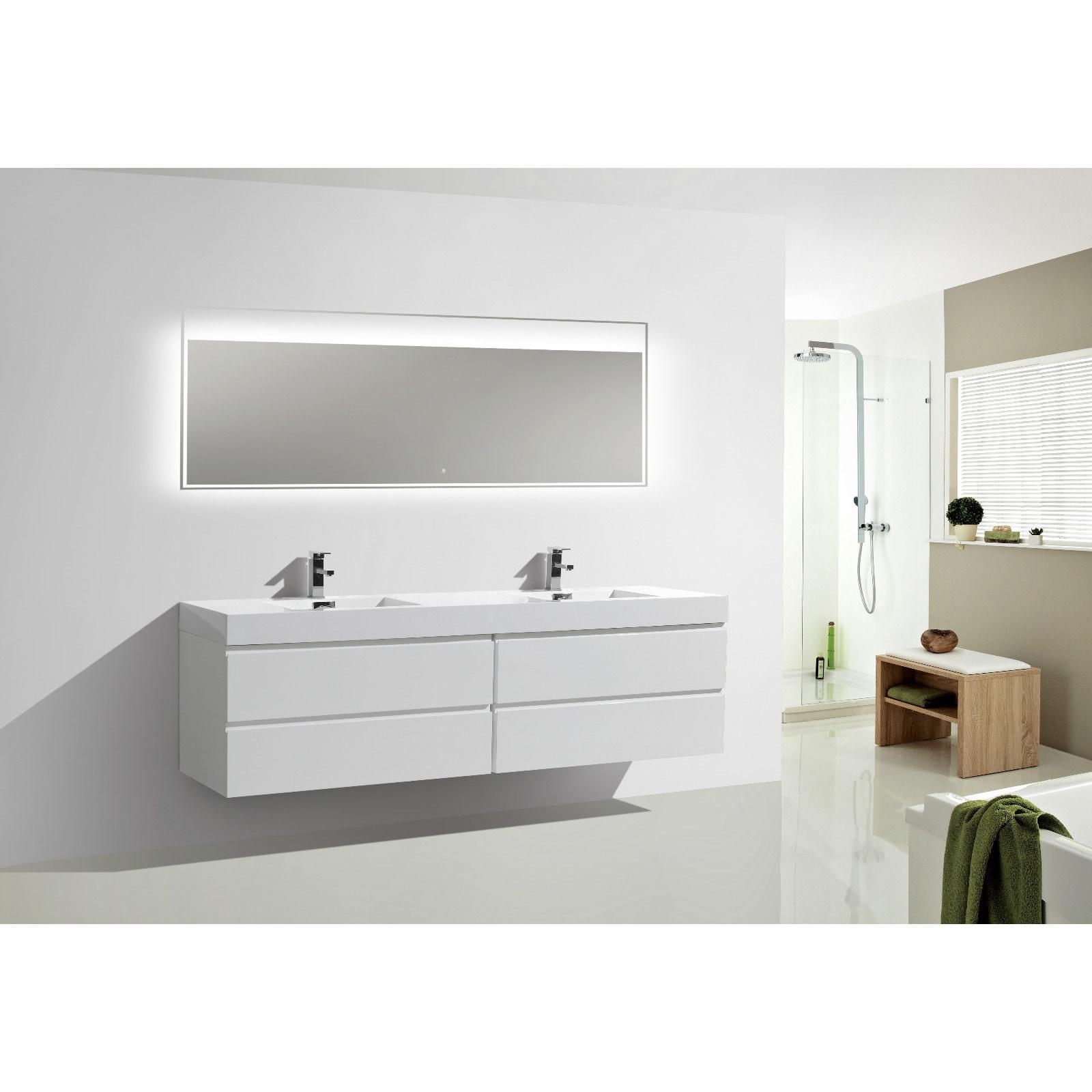 Moreno Bath MOF 80-inch Wall Mounted Reinforced Acrylic Double Sink ...