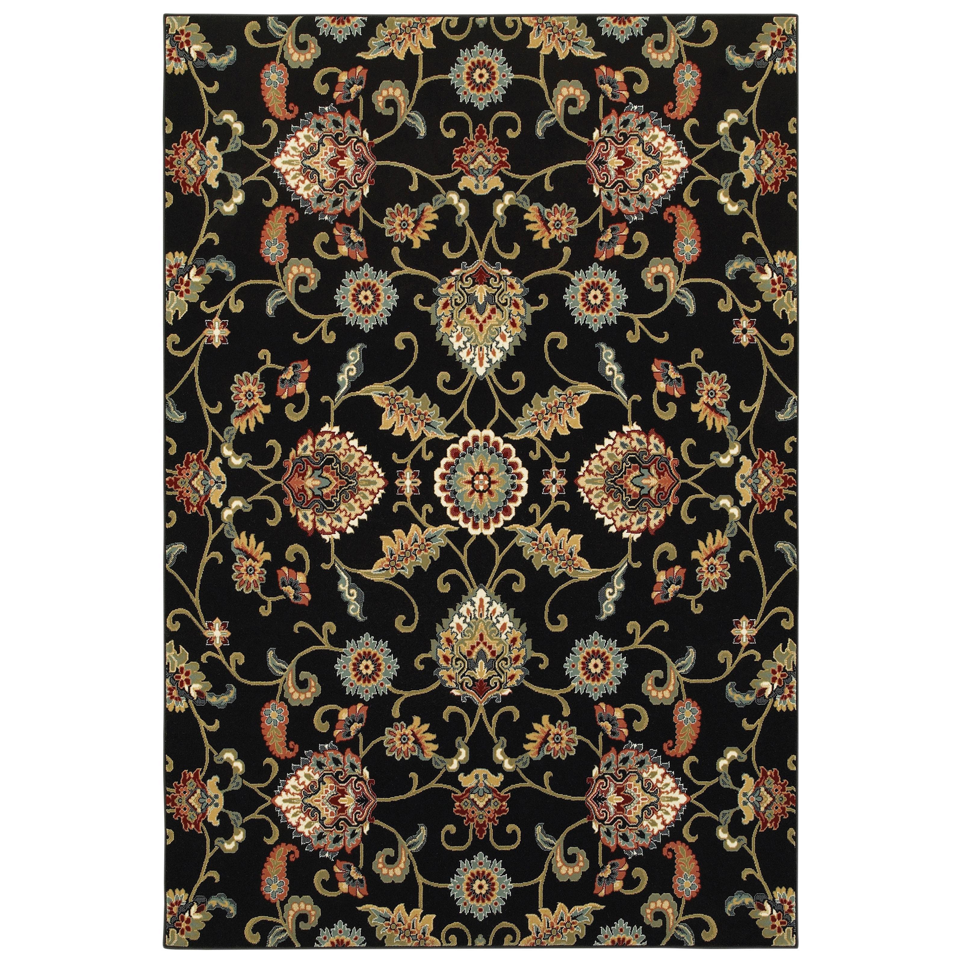 Shop Laurel Creek Wesley Oriental Black/Multicolored Area Rug - 7\'10 ...