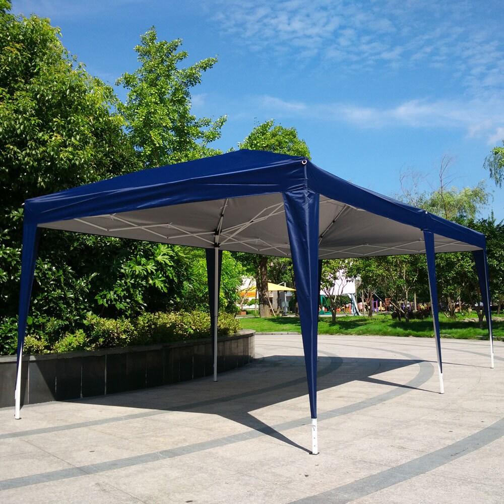 10x20 ft  EZ Pop UP Wedding Party Tent Folding Gazebo Canopy Heavy Duty/  Carry Case
