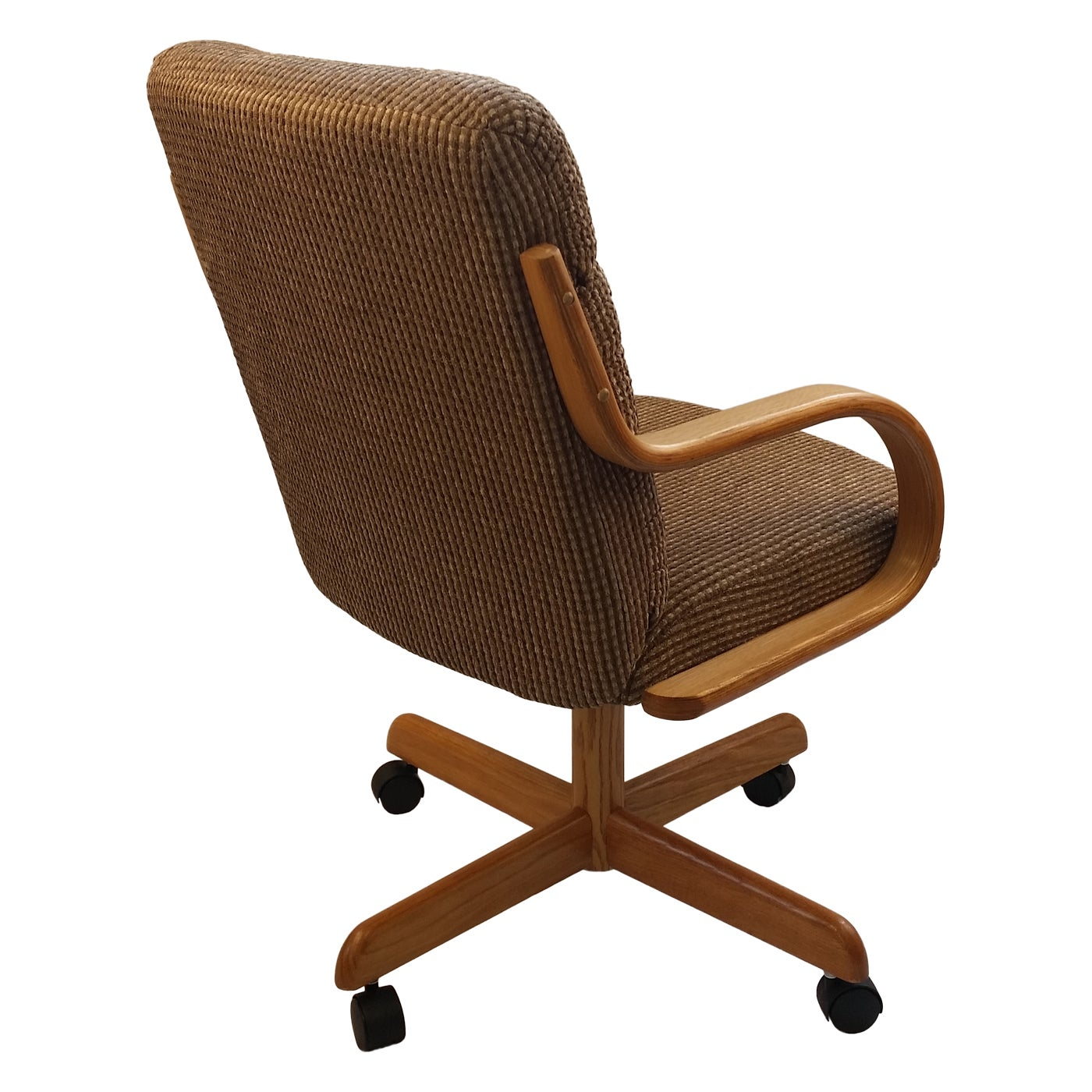 Shop Caster Chair Company C118 Arlington Swivel Tilt Caster Arm Chair  Caramel Tweed Fabric   Free Shipping Today   Overstock.com   14818849
