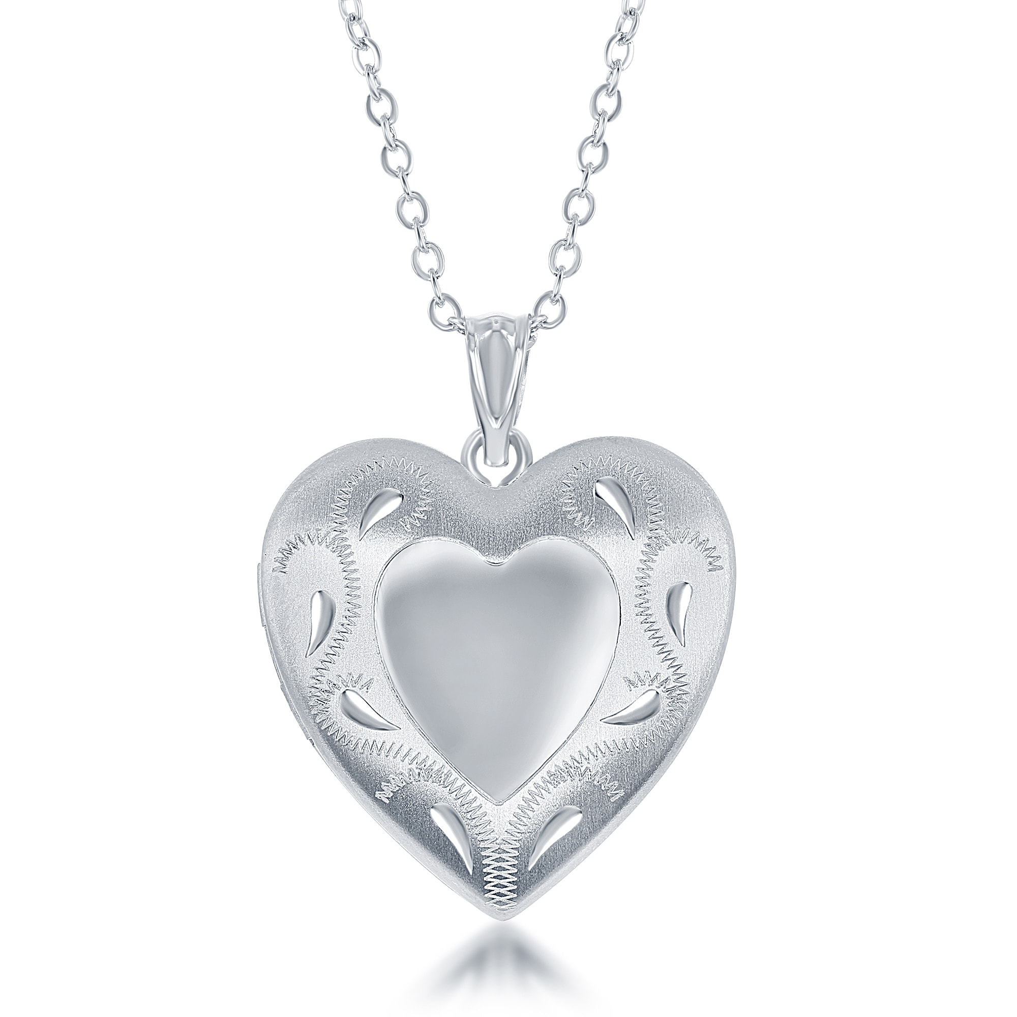 silver lockets size locket sterling full jewellers pendants half ie heart fields