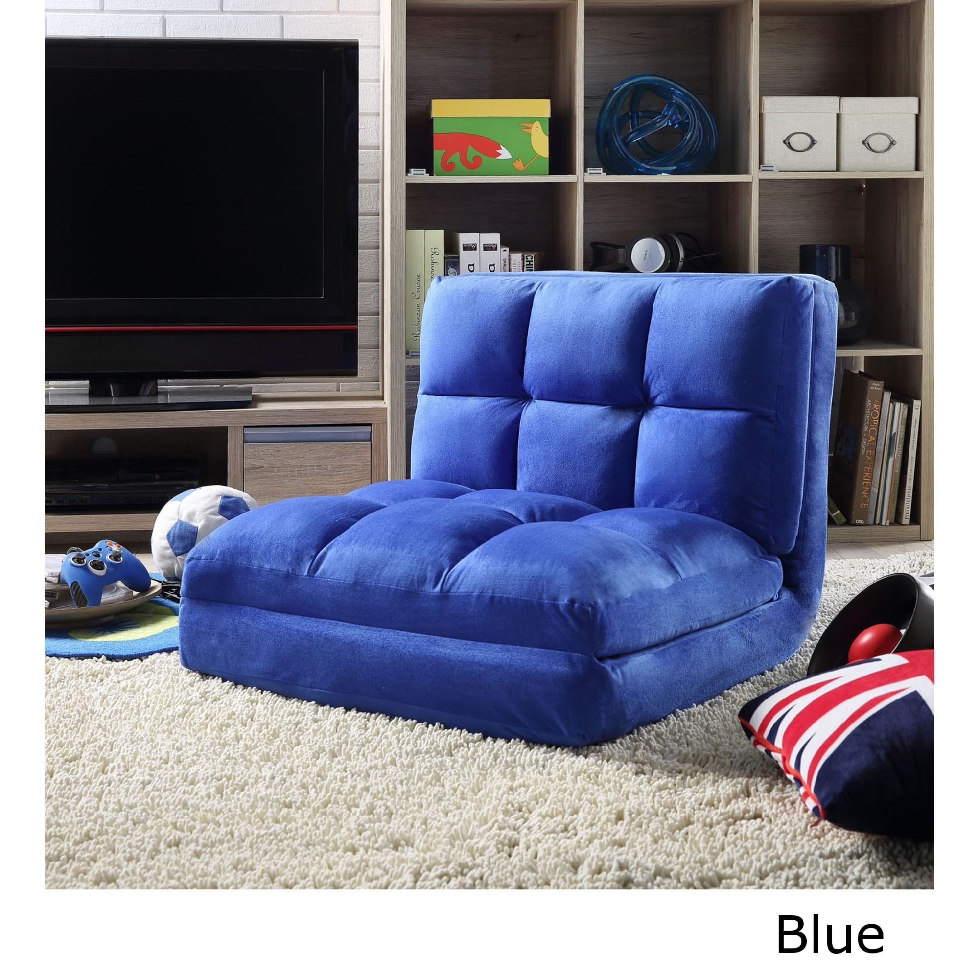 Shop Loungie Microsuede 5 Position Convertible Flip Chair/ Sleeper   On  Sale   Free Shipping Today   Overstock.com   14819087
