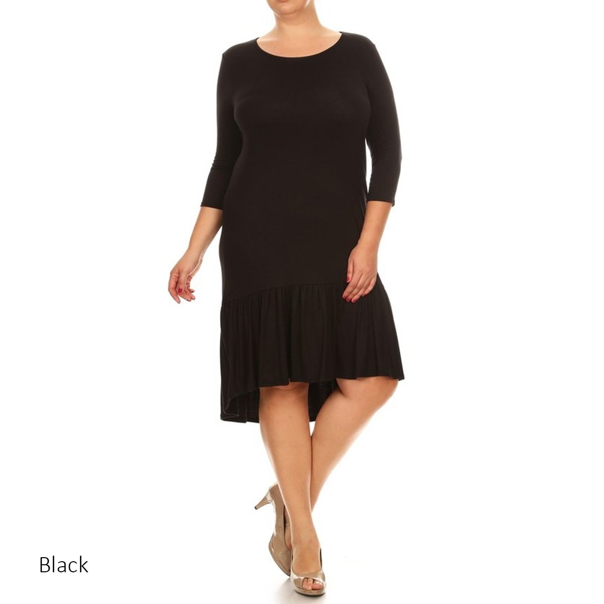 c52da869b95 Shop Women s Plus Size Jersey Knit Dress - On Sale - Free Shipping ...