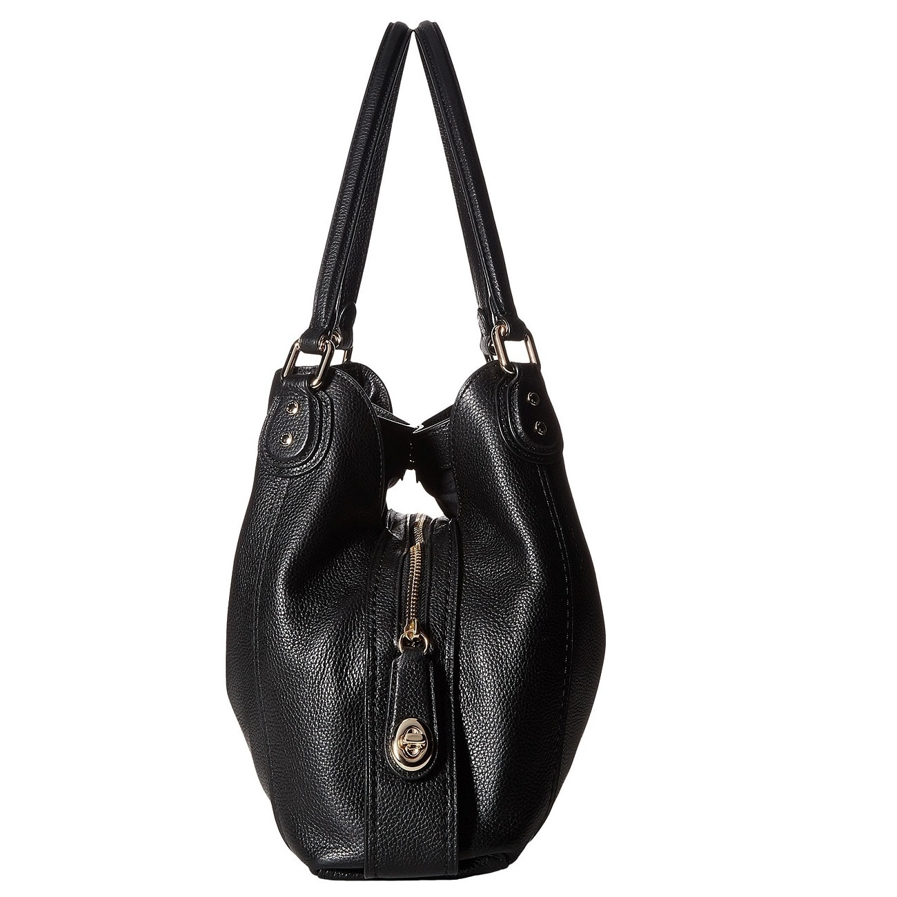 Shop Coach Edie 31 Pebbled Leather Light Gold Black Shoulder Bag - On Sale  - Free Shipping Today - Overstock.com - 14822349 38463a5b42