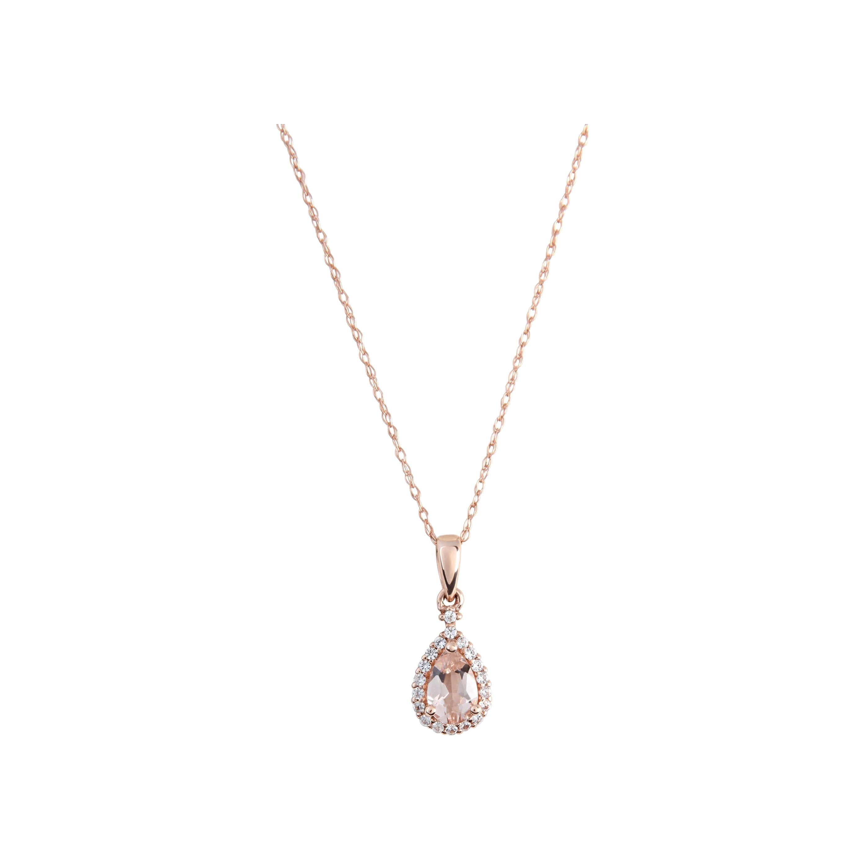 miadora diamond ip necklace walmart accent com morganite drop rose and pendant gold