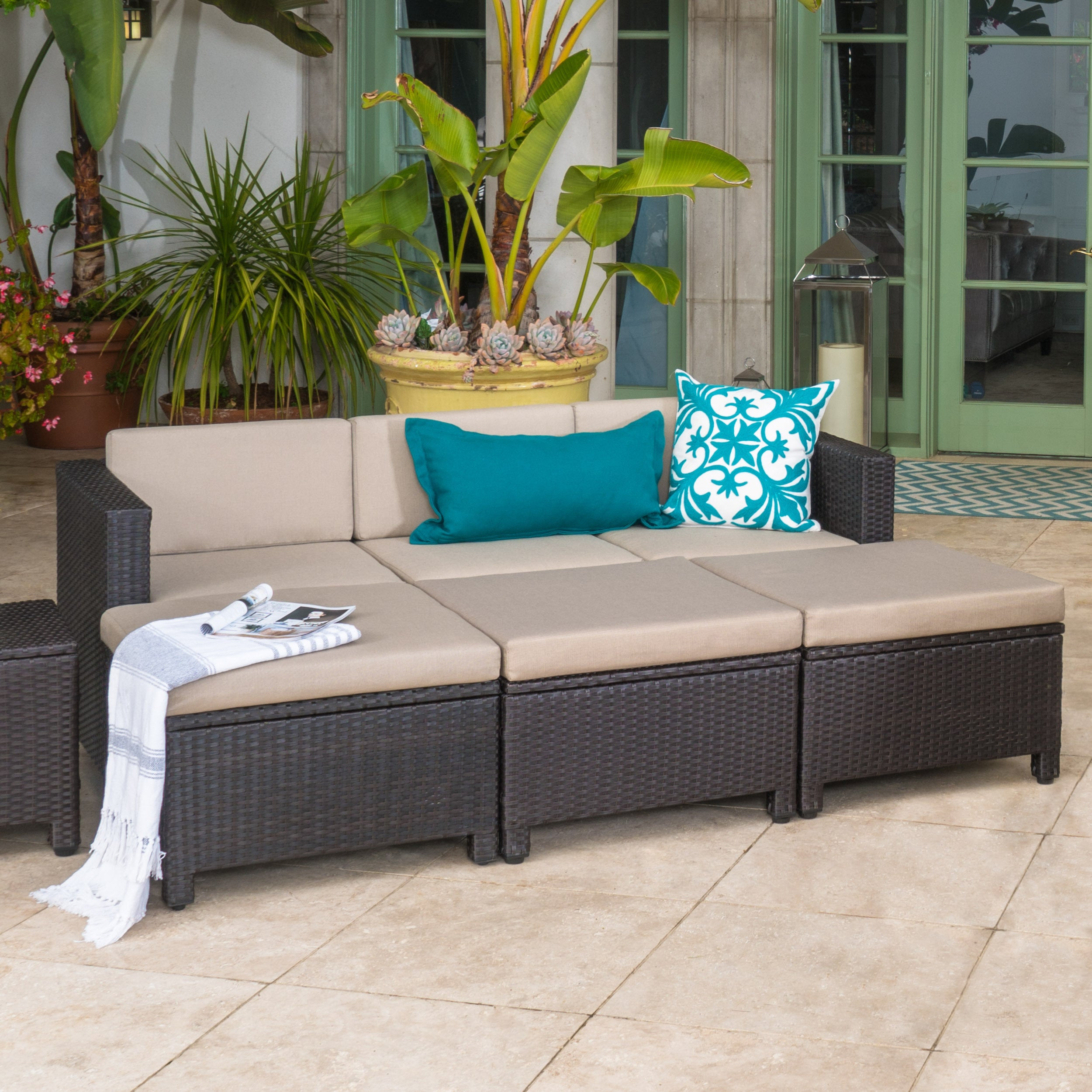 pit living weather sectional conversation hayneedle patio fire set belham cfm inuse wicker product in rendezvous daybed all