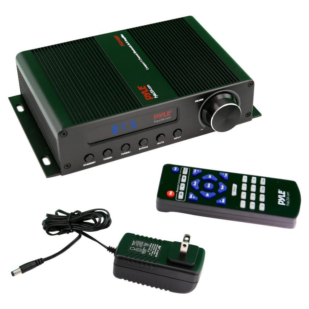 Shop Pyle Pfa540bt Compact 5 Channel Bluetooth Amplifier Hi Fi Amp Watt Fm Receiver With Hdmi Lcd Display Radio Free Shipping Today