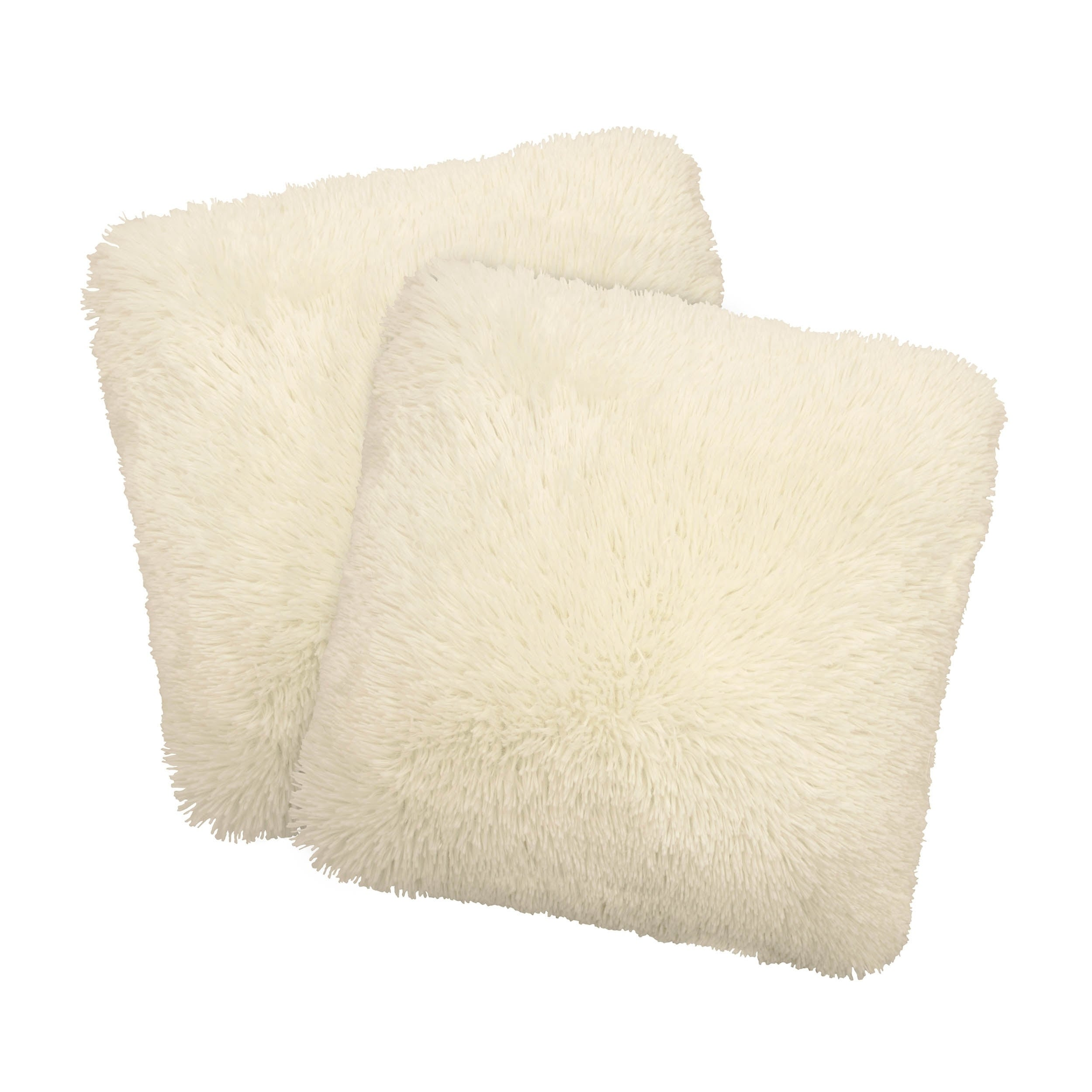 Dolce Home Alexus 2-Piece Shag Decorative Pillow Set - Free Shipping On  Orders Over $45 - Overstock.com - 21488388