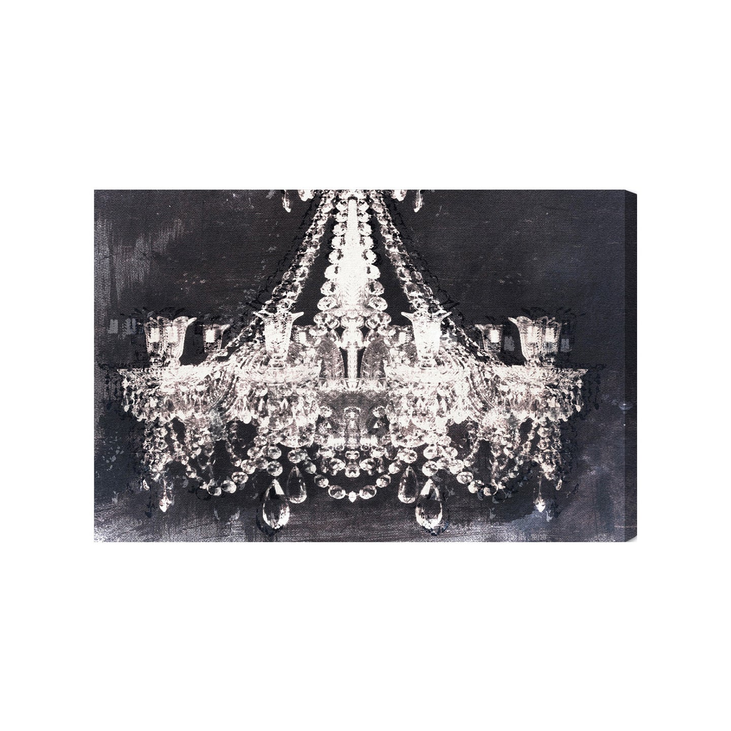 Oliver Gal Dramatic Entrance Night Canvas Art Black White
