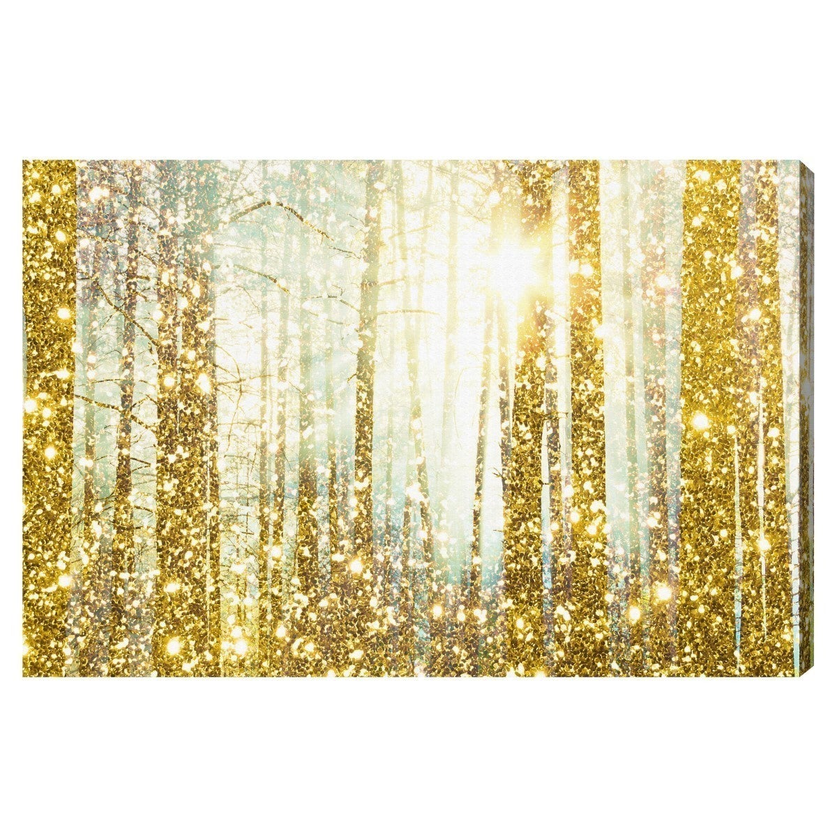 Oliver Gal \'Magical Forest\' Canvas Art - Gold - Free Shipping On ...